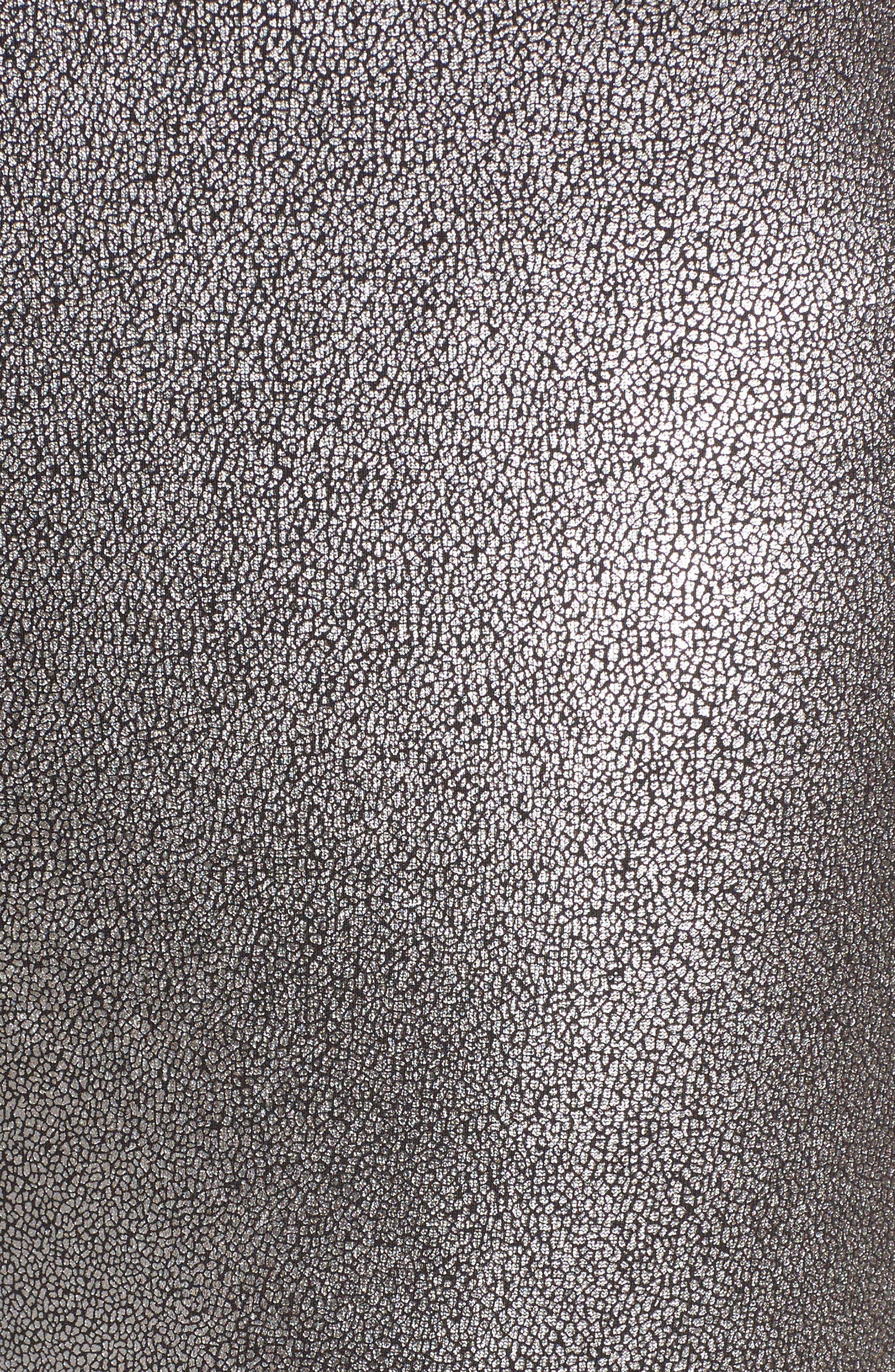 Metallic Leggings,                             Alternate thumbnail 6, color,                             Silver