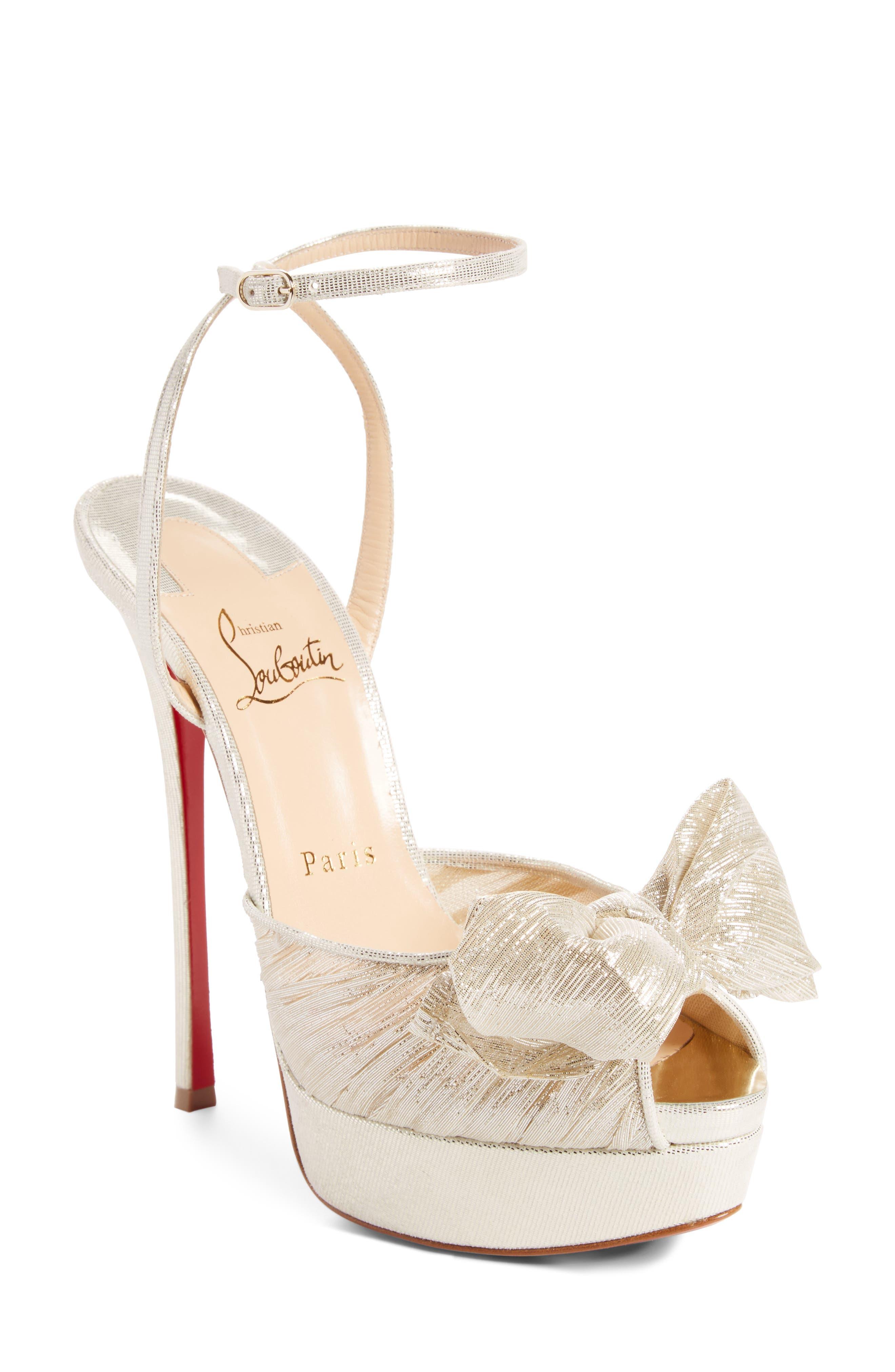 Artydiva Platform Ankle Strap Sandal,                         Main,                         color, Platine Silver