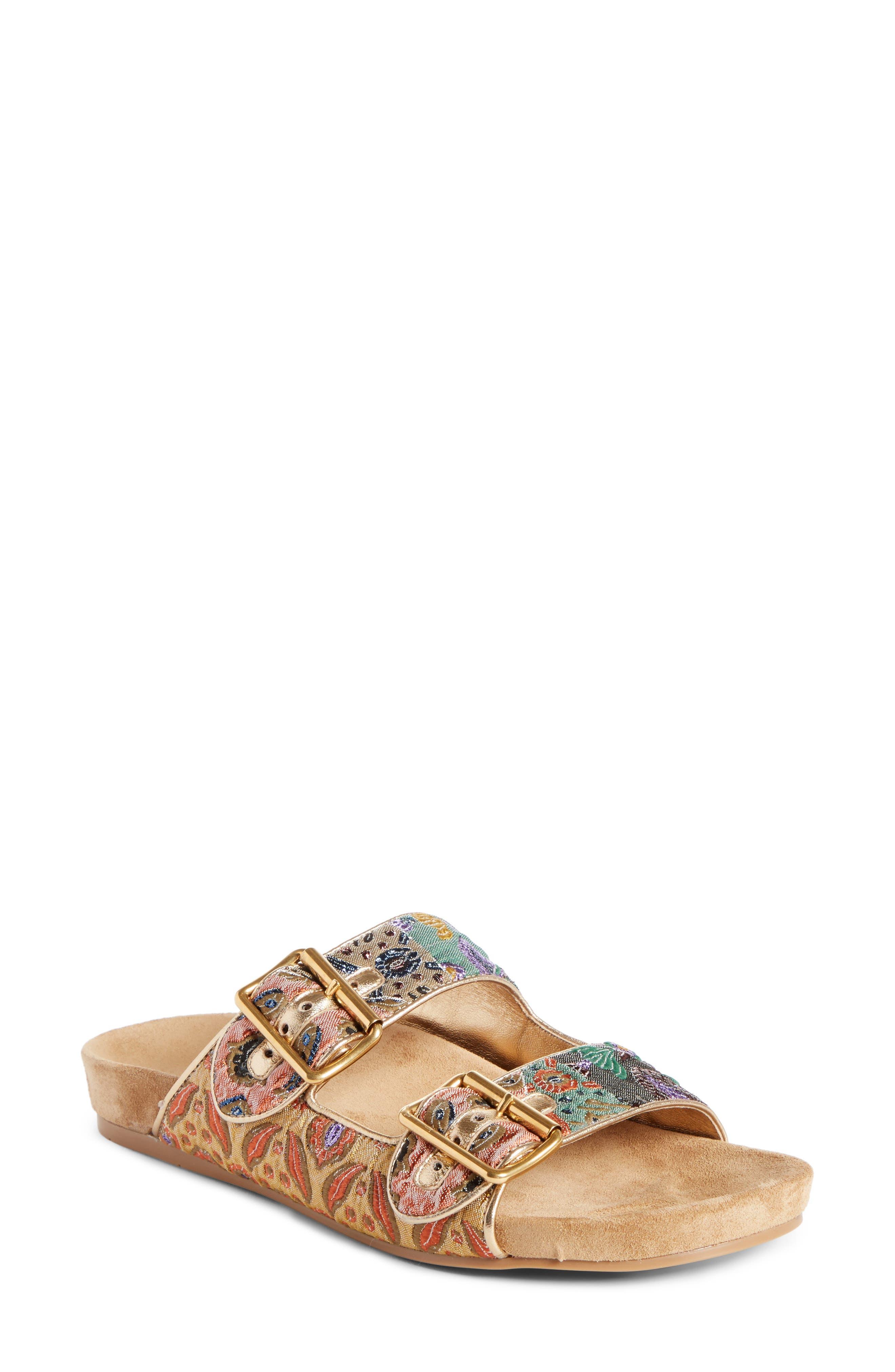 Prada Glitter Slide Sandal (Women)