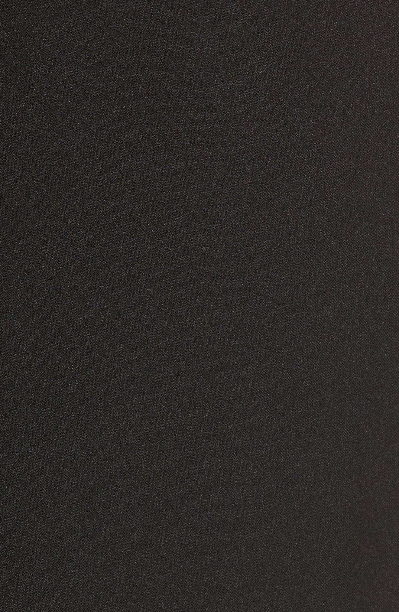 New York Crepe Button Back Top,                             Alternate thumbnail 5, color,                             Black