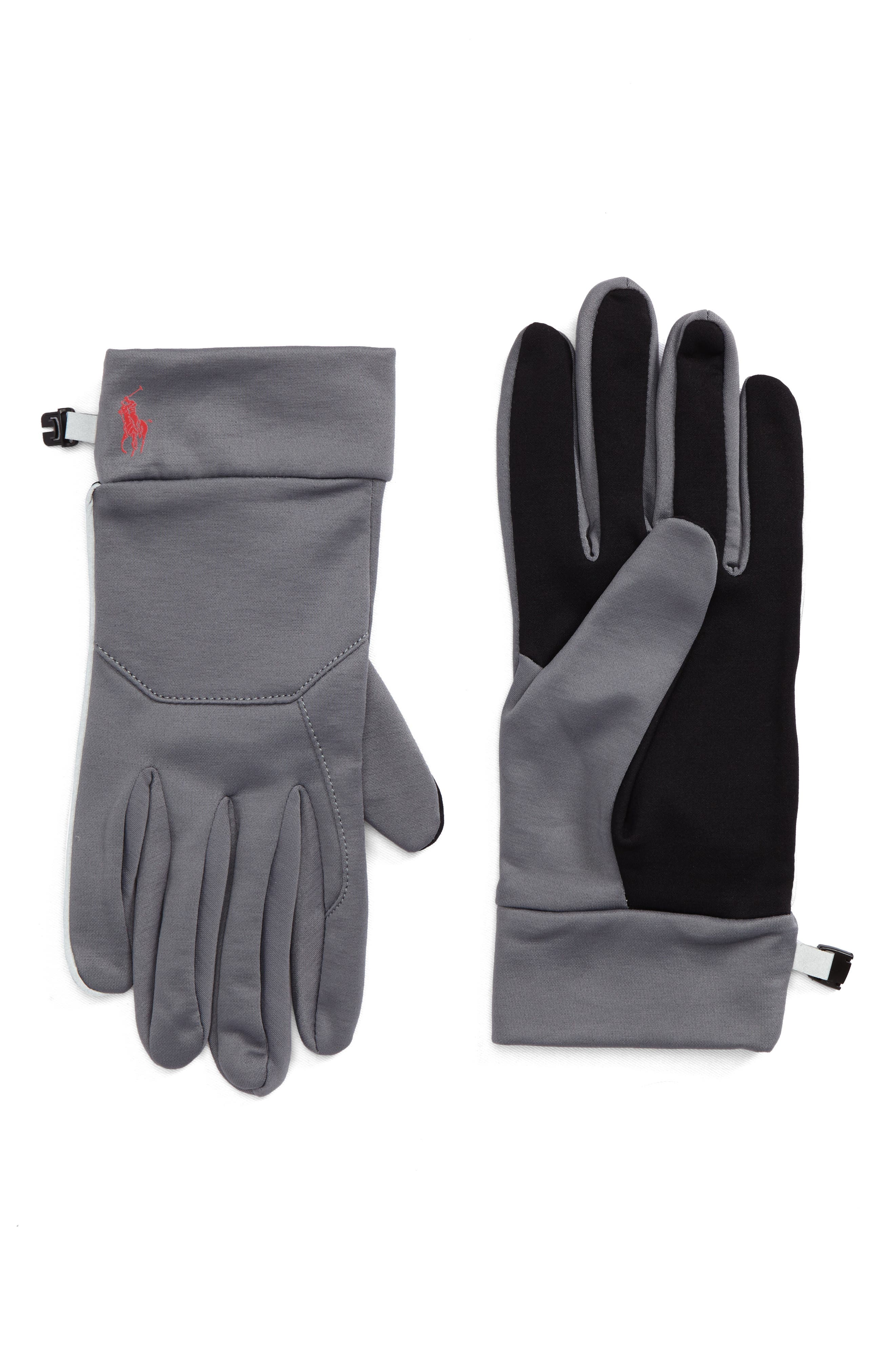 Classic Sport Tech Gloves,                         Main,                         color, Gray/ Red