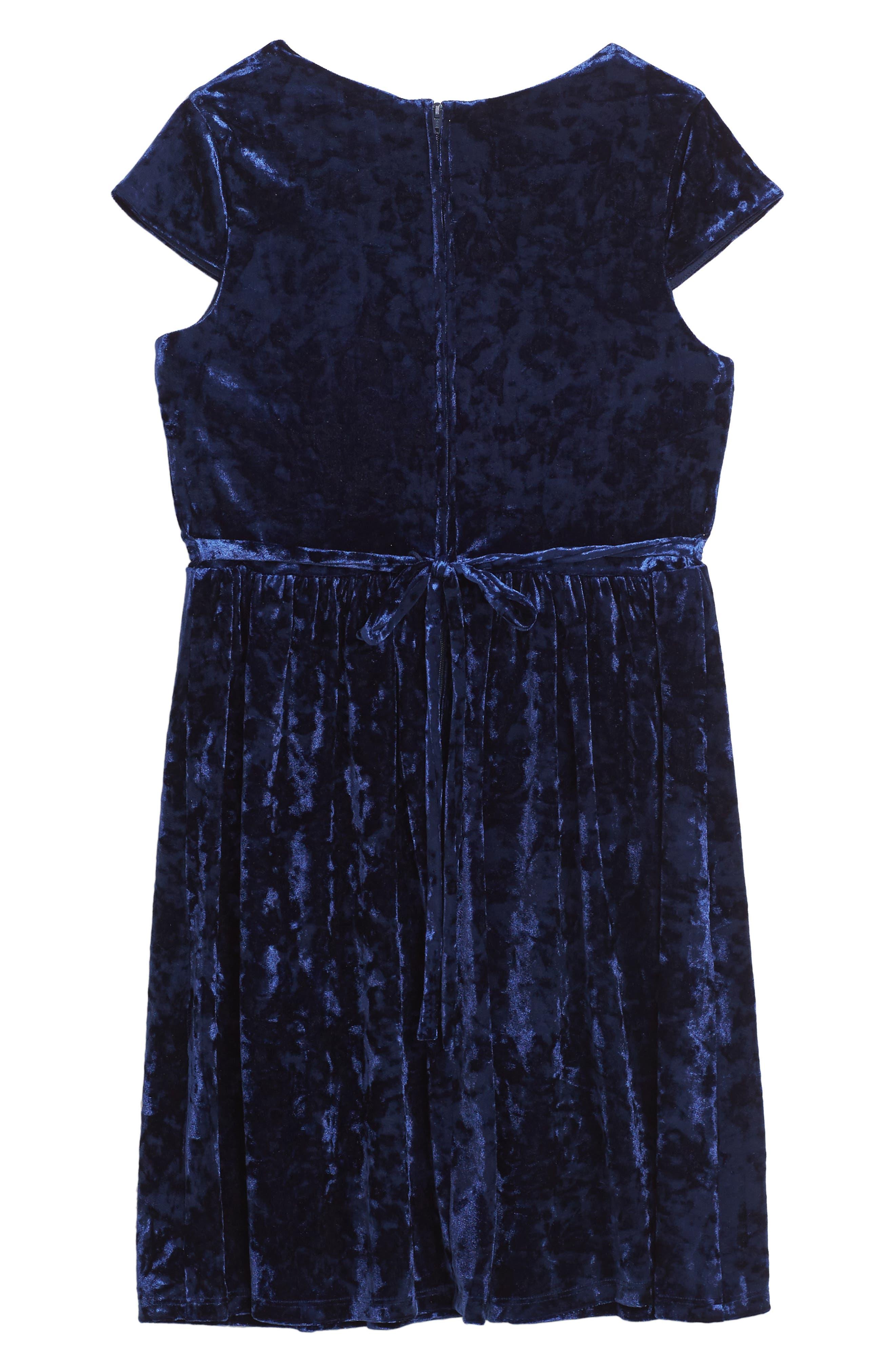 Alternate Image 2  - BLUSH by Us Angels Velvet Dress (Big Girls)