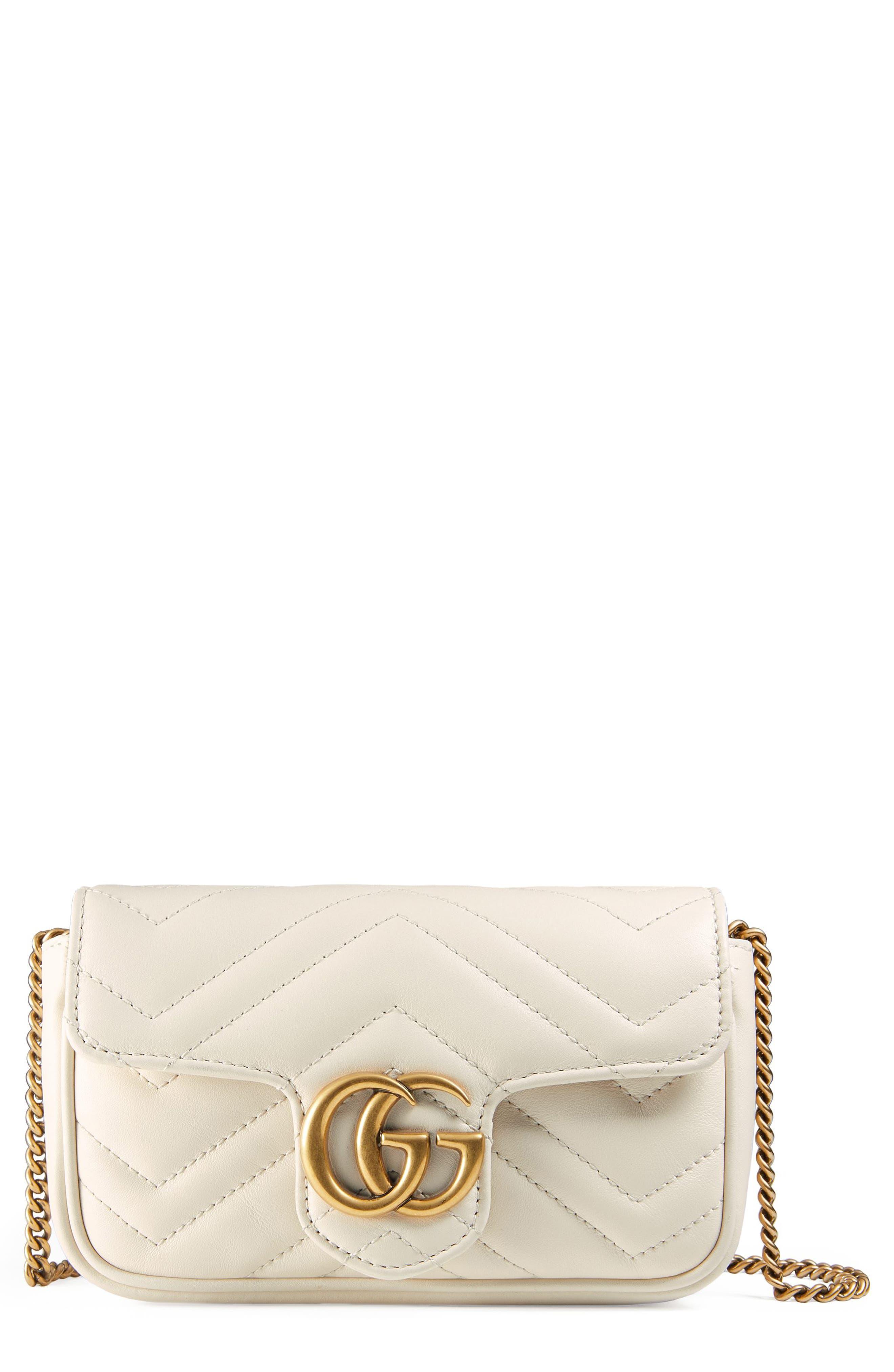 Alternate Image 1 Selected - Gucci Supermini GG Marmont 2.0 Matelassé Leather Shoulder Bag