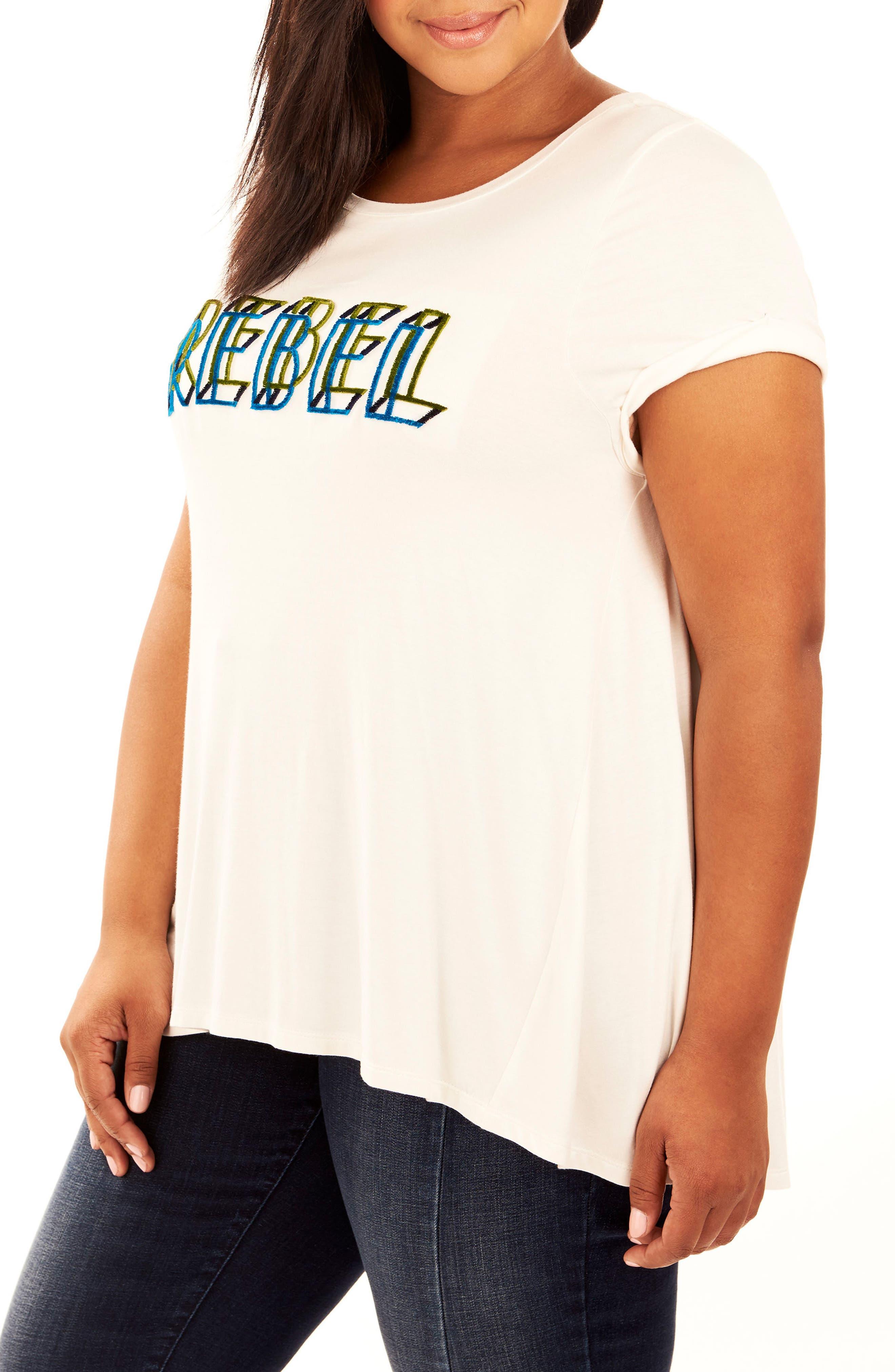 Alternate Image 3  - Rebel Wilson x Angels Graphic High/Low Tee (Plus Size)