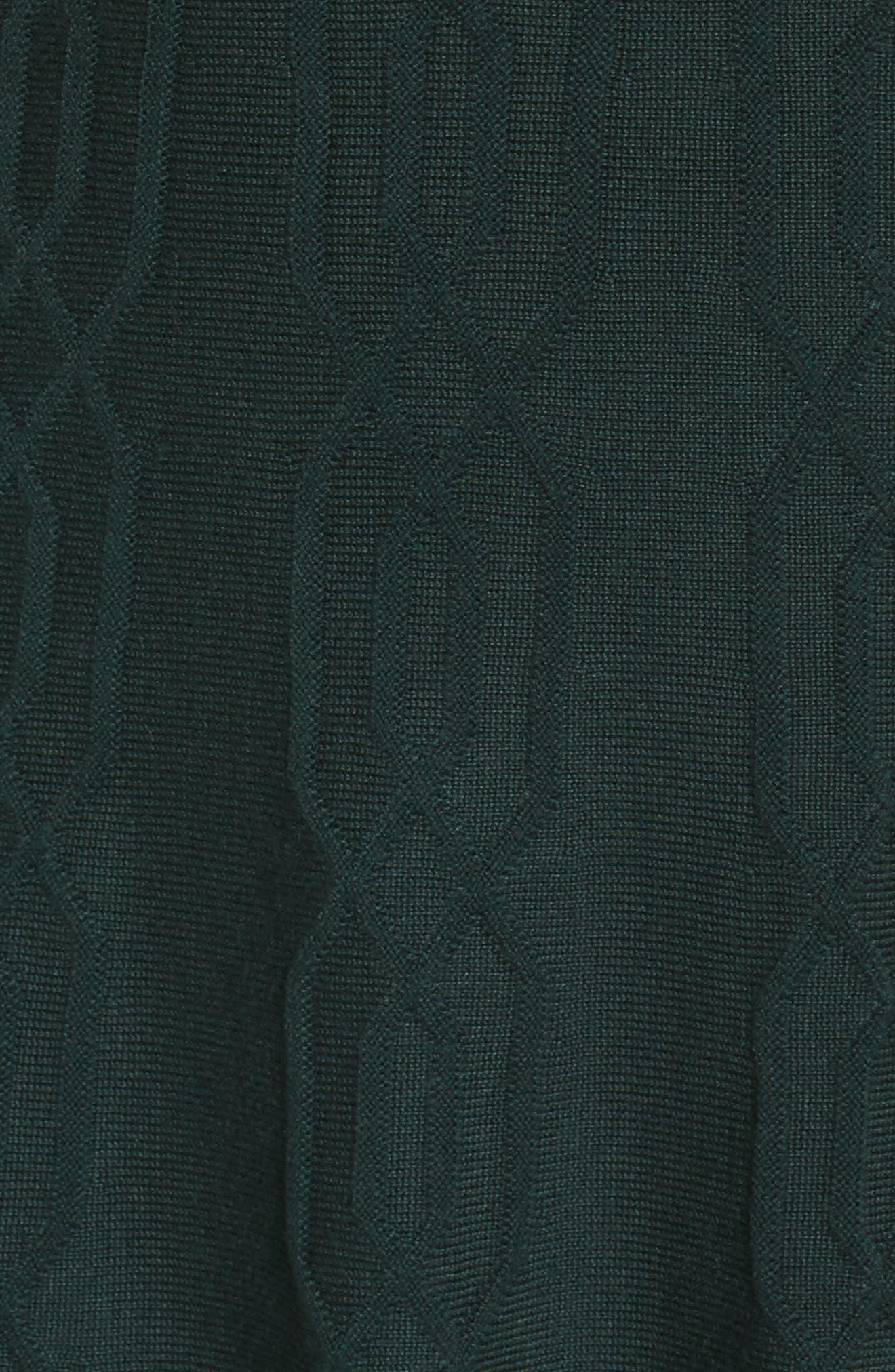 Jacquard Knit Fit & Flare Dress,                             Alternate thumbnail 5, color,                             Green