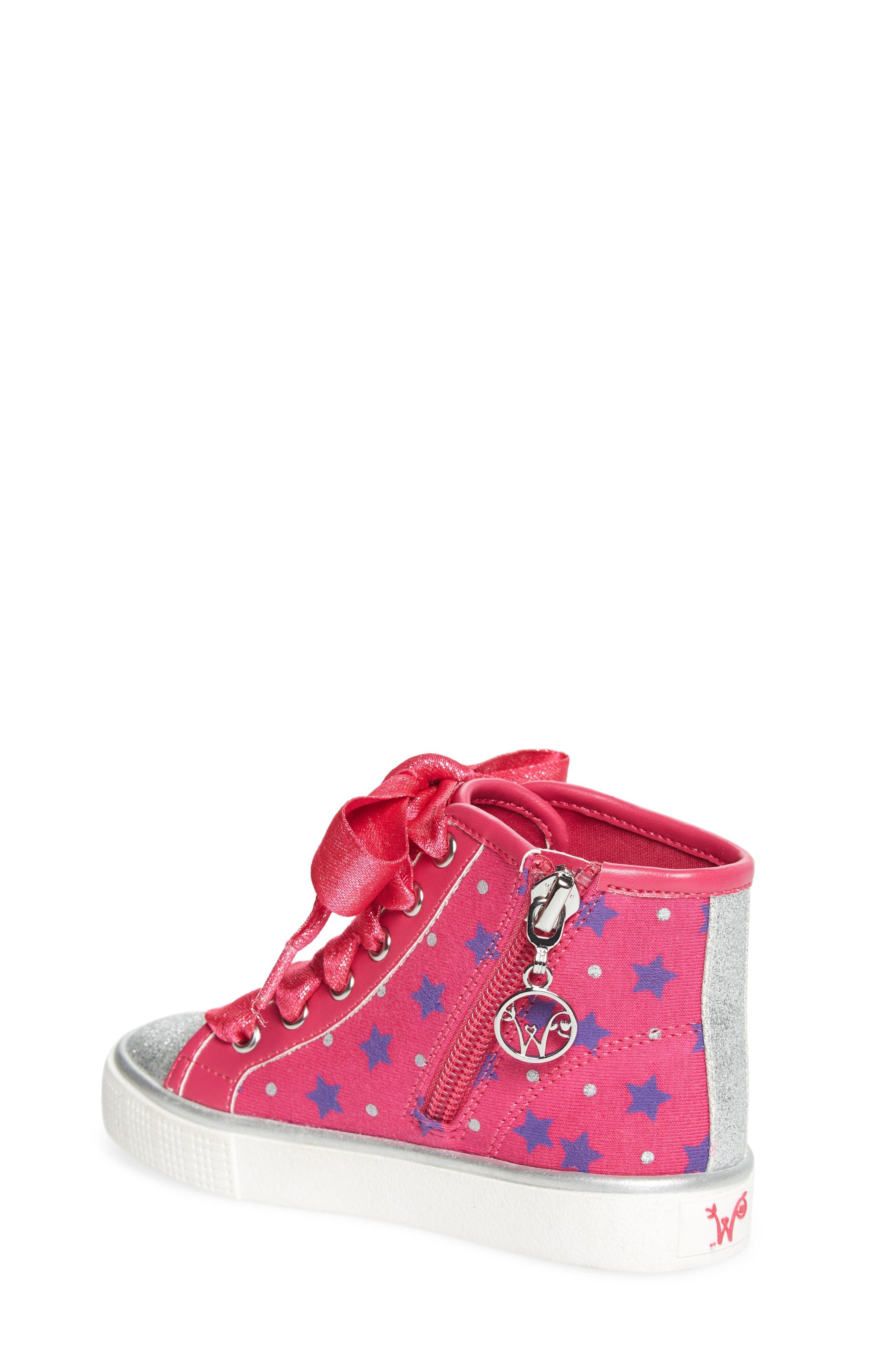Emerson High Top Sneaker,                             Alternate thumbnail 2, color,                             Pink/ Purple