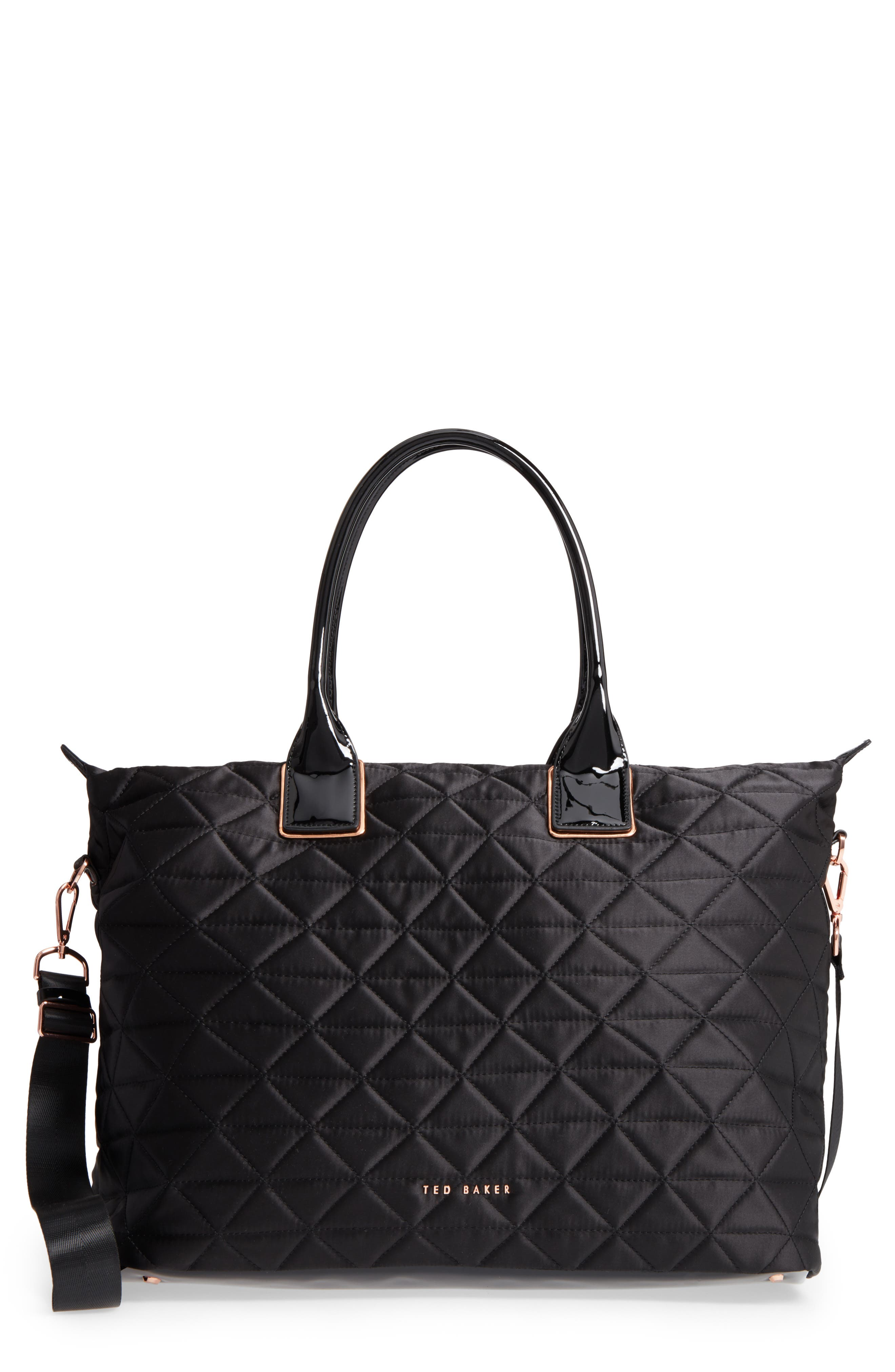 Large Hilksi Quilted Tote,                         Main,                         color, Black