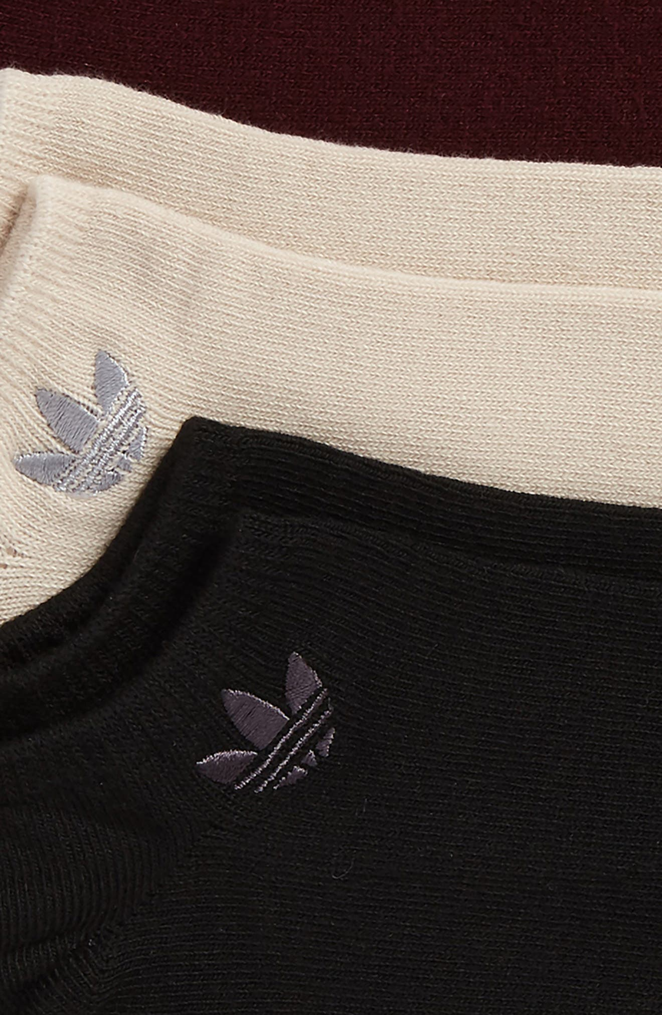 3-Pack No-Show Socks,                             Alternate thumbnail 2, color,                             Black/ Brown/ Maroon