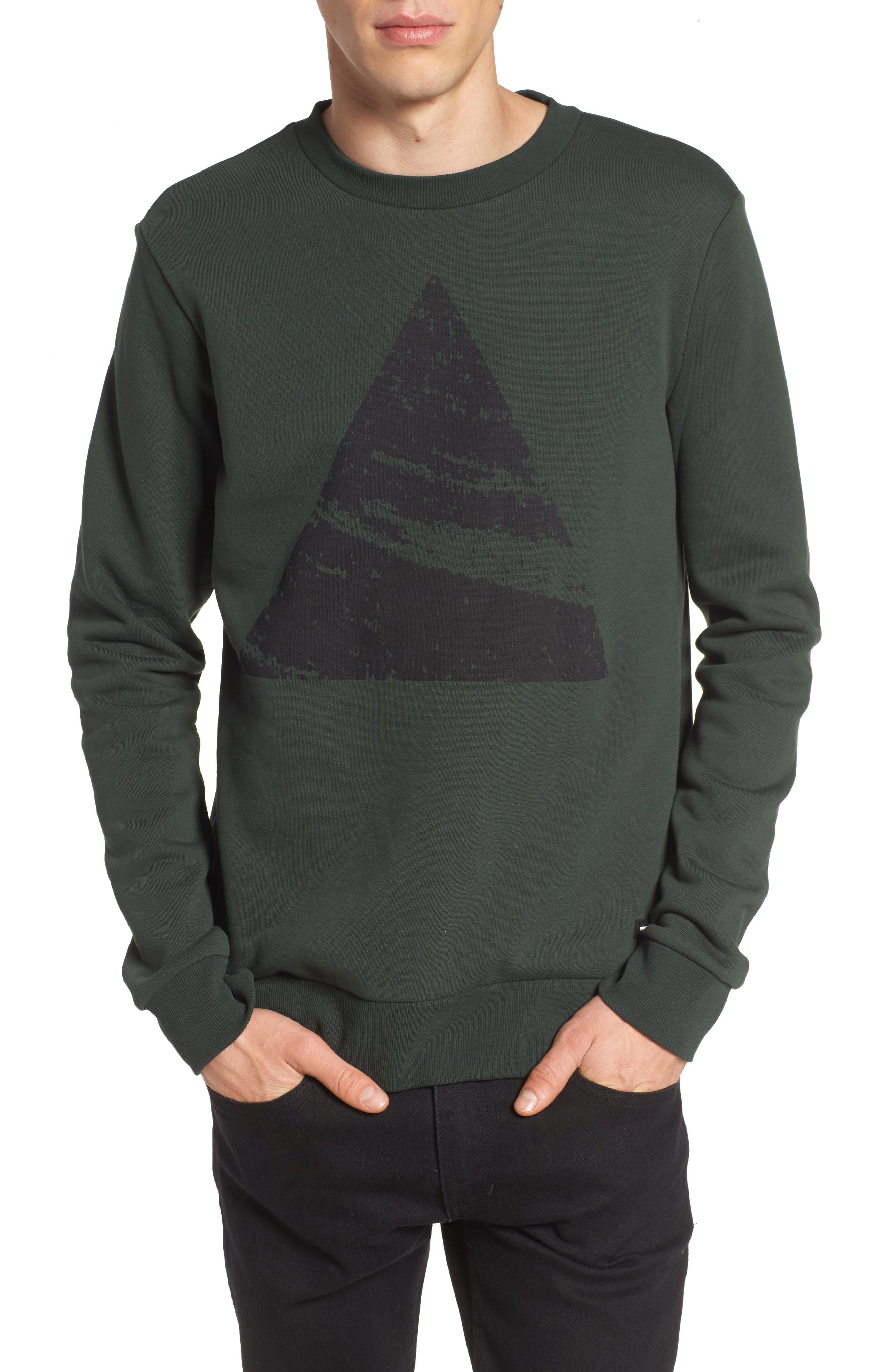 Adrian Sweatshirt,                         Main,                         color, Green Mountain Peak