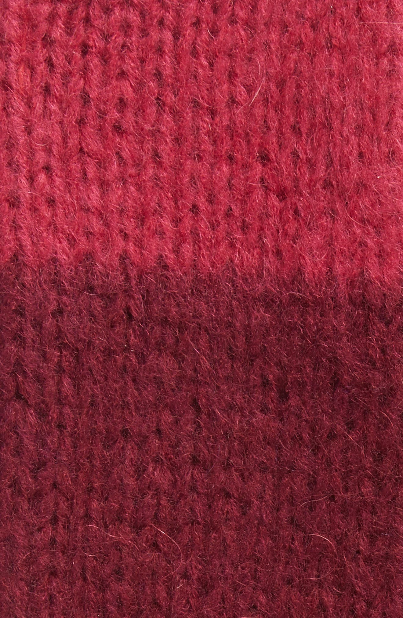 Metallic Tipped Arm Warmers,                             Alternate thumbnail 2, color,                             Burgundy Combo