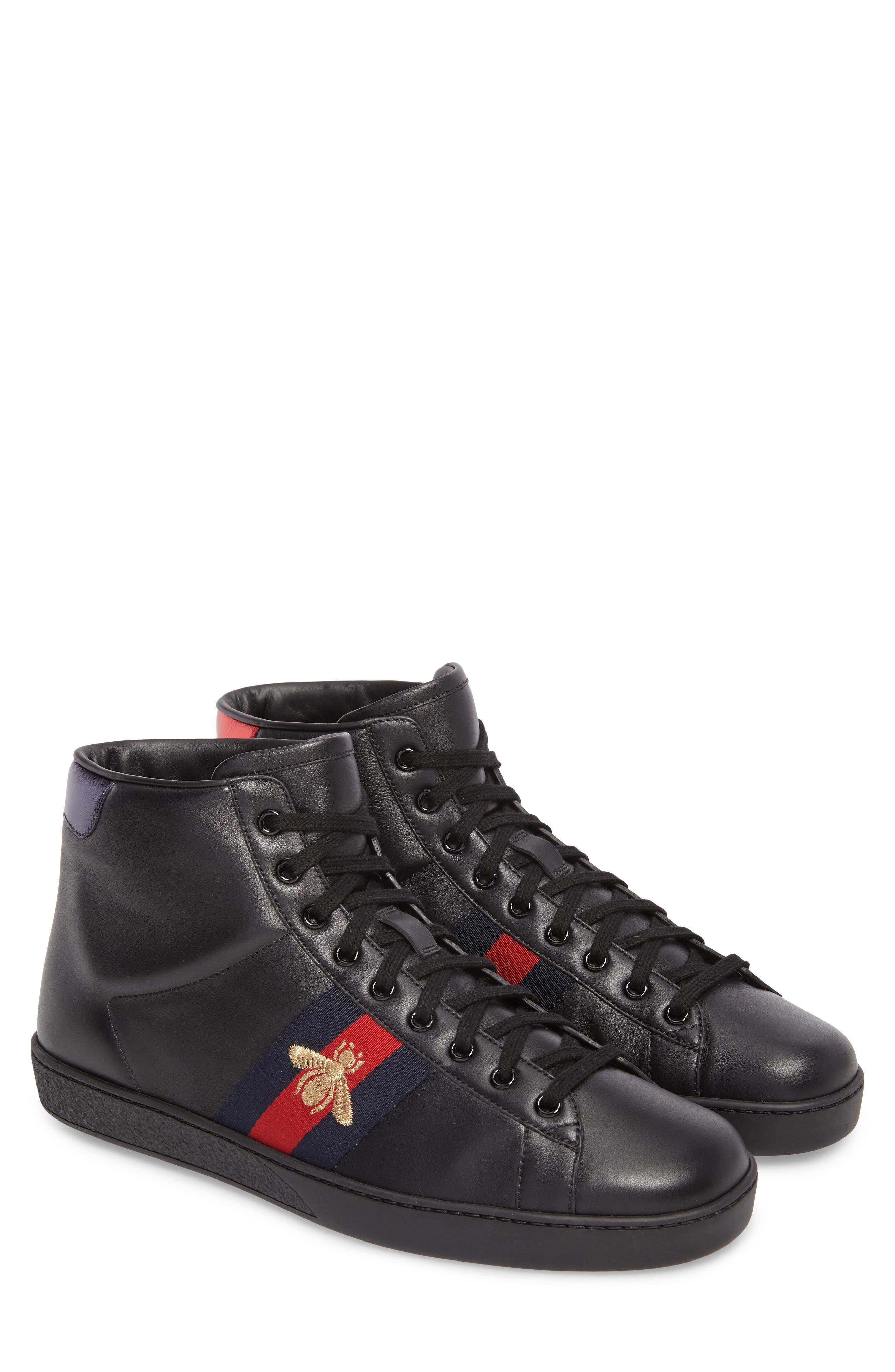 Ace High Top Sneaker,                         Main,                         color, Black