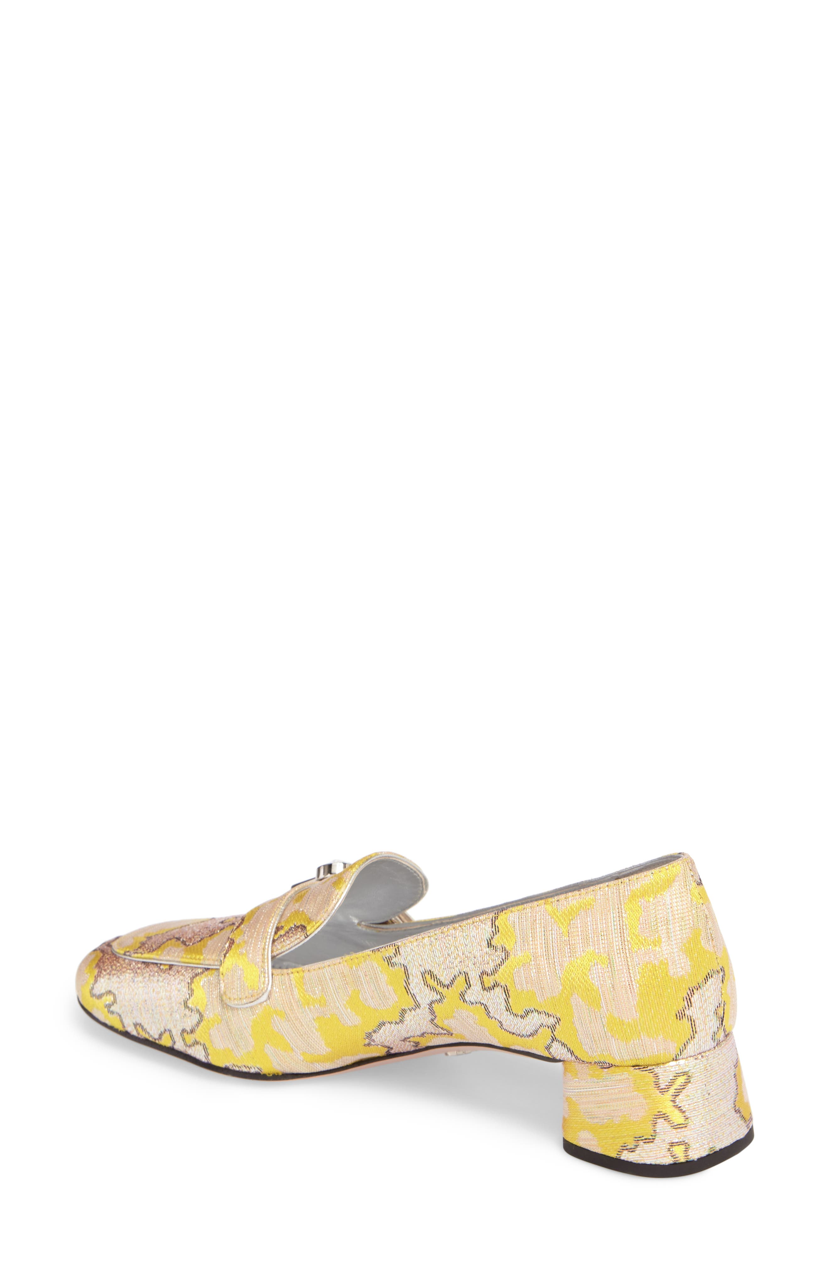 Brooch Loafer Pump,                             Alternate thumbnail 2, color,                             Giallo