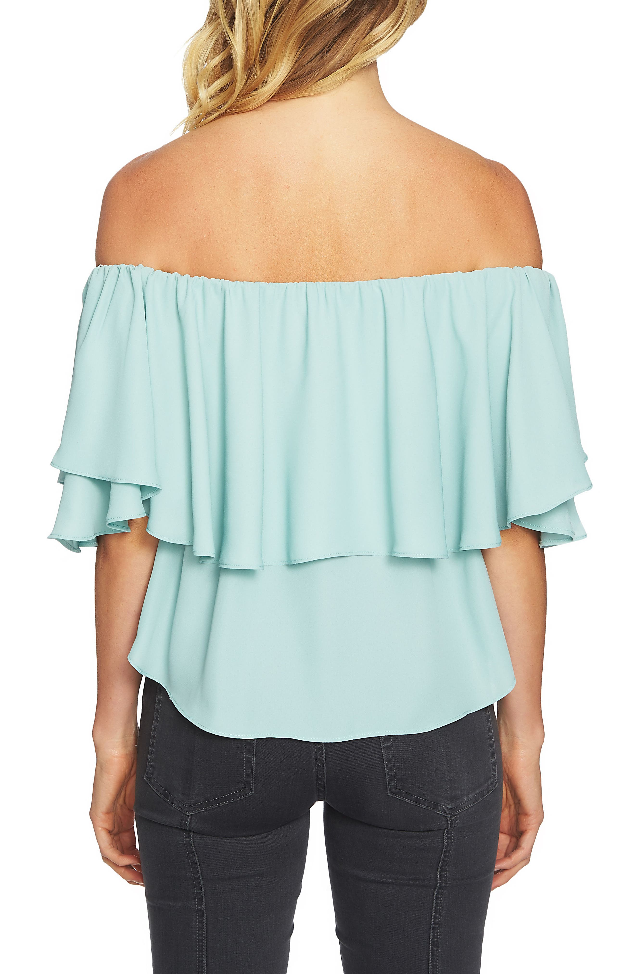 Alternate Image 2  - 1.STATE Ruffle Off the Shoulder Top
