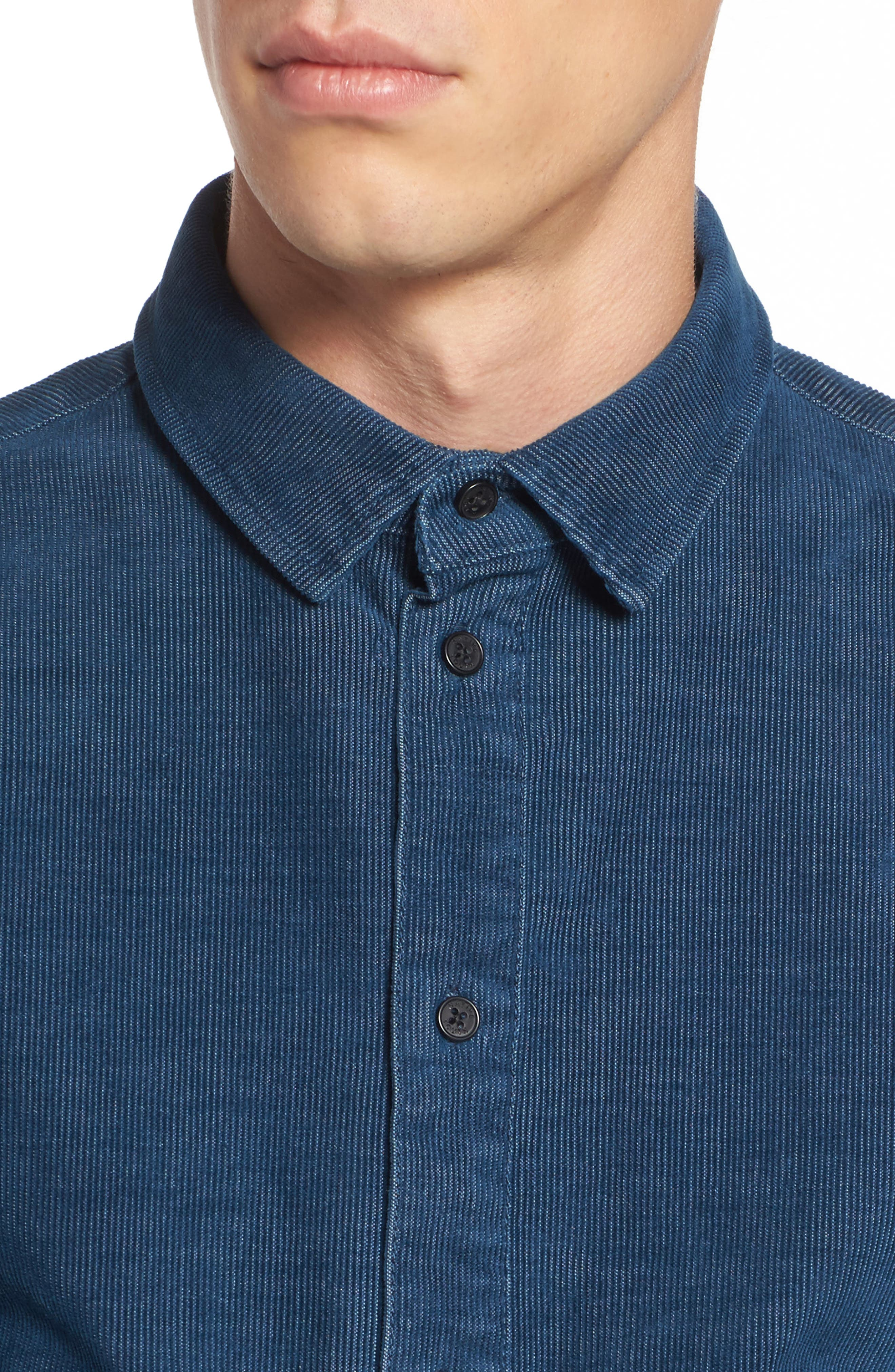 Cheriton Corduroy Shirt,                             Alternate thumbnail 4, color,                             Blue
