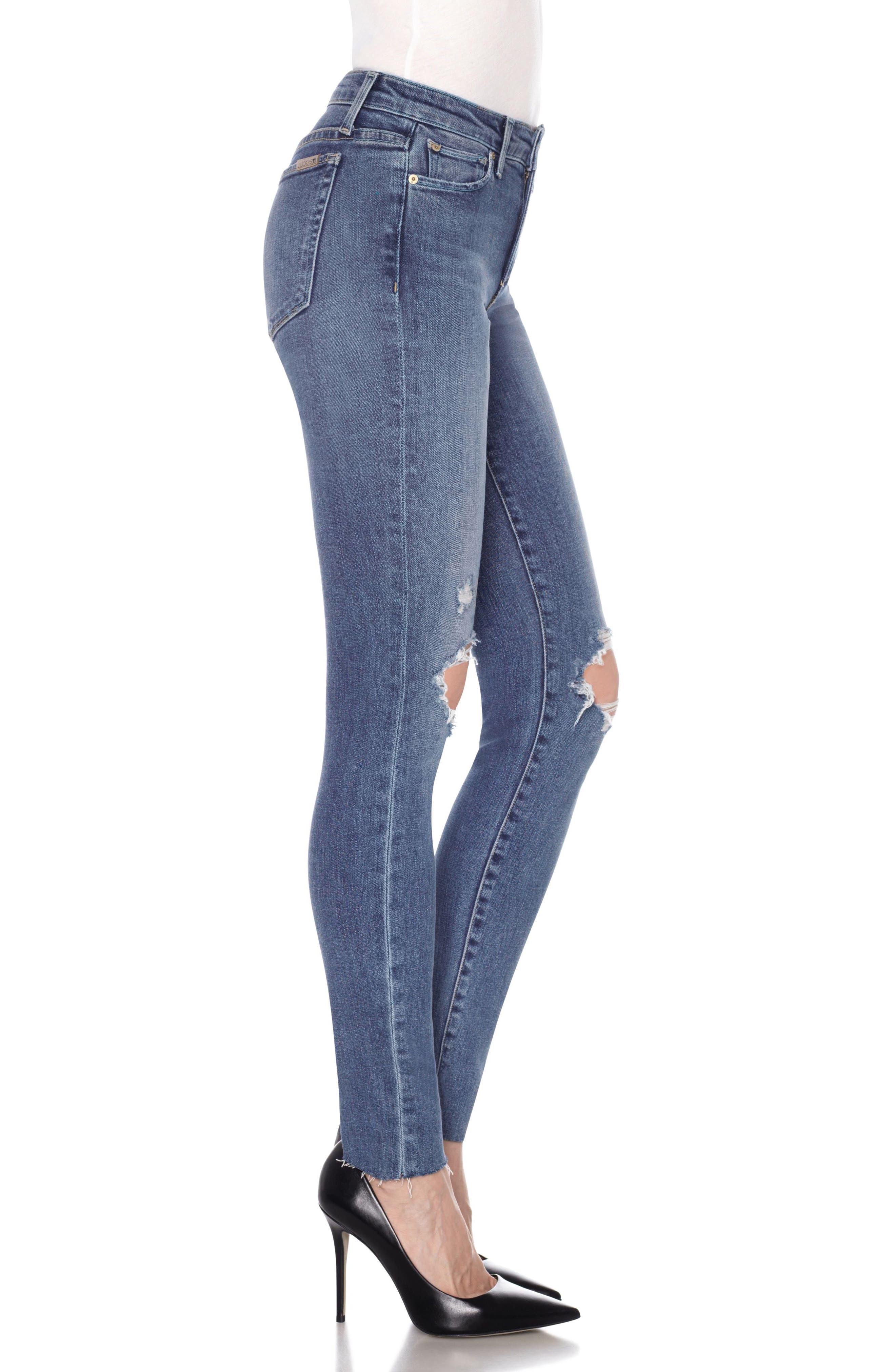 Icon High Waist Skinny Jeans,                             Alternate thumbnail 4, color,                             Kiara