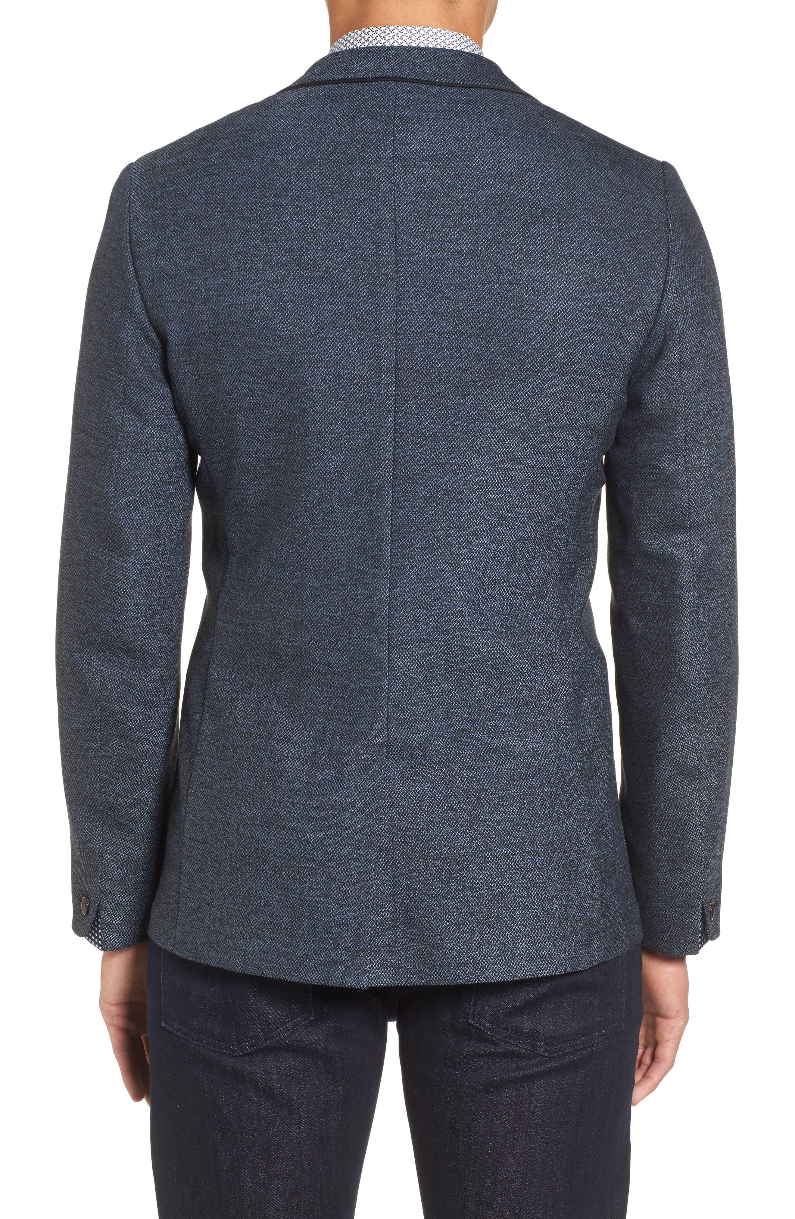 Port Slim Fit Jacket,                             Alternate thumbnail 2, color,                             Blue