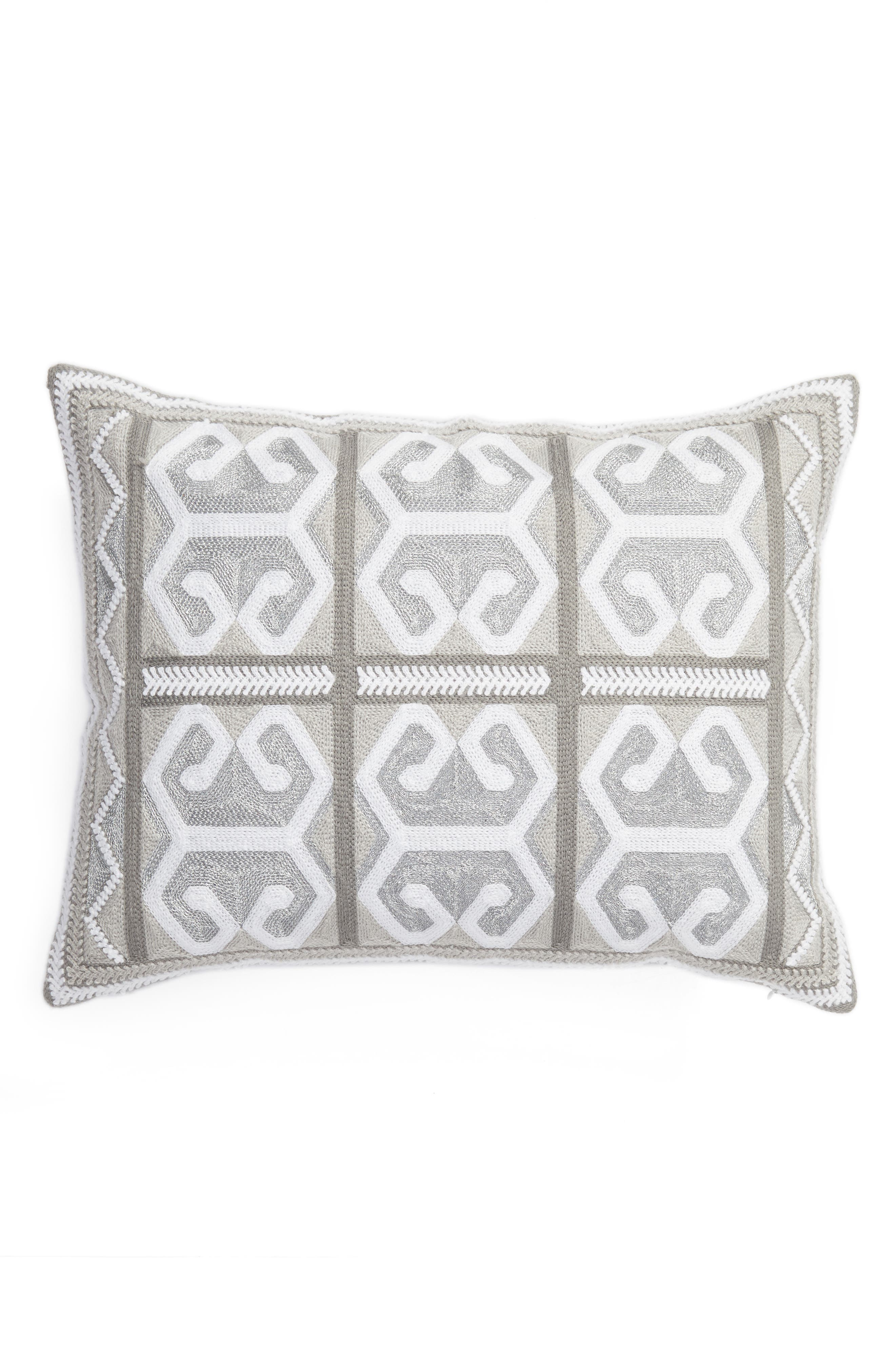 Alternate Image 1 Selected - Levtex Caleb Crewel Stitch Accent Pillow