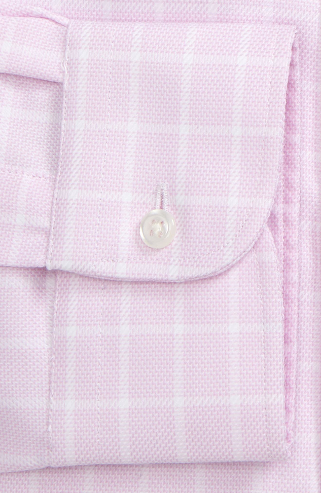 Traditional Fit Non-Iron Check Dress Shirt,                             Alternate thumbnail 5, color,                             Pink Lavender