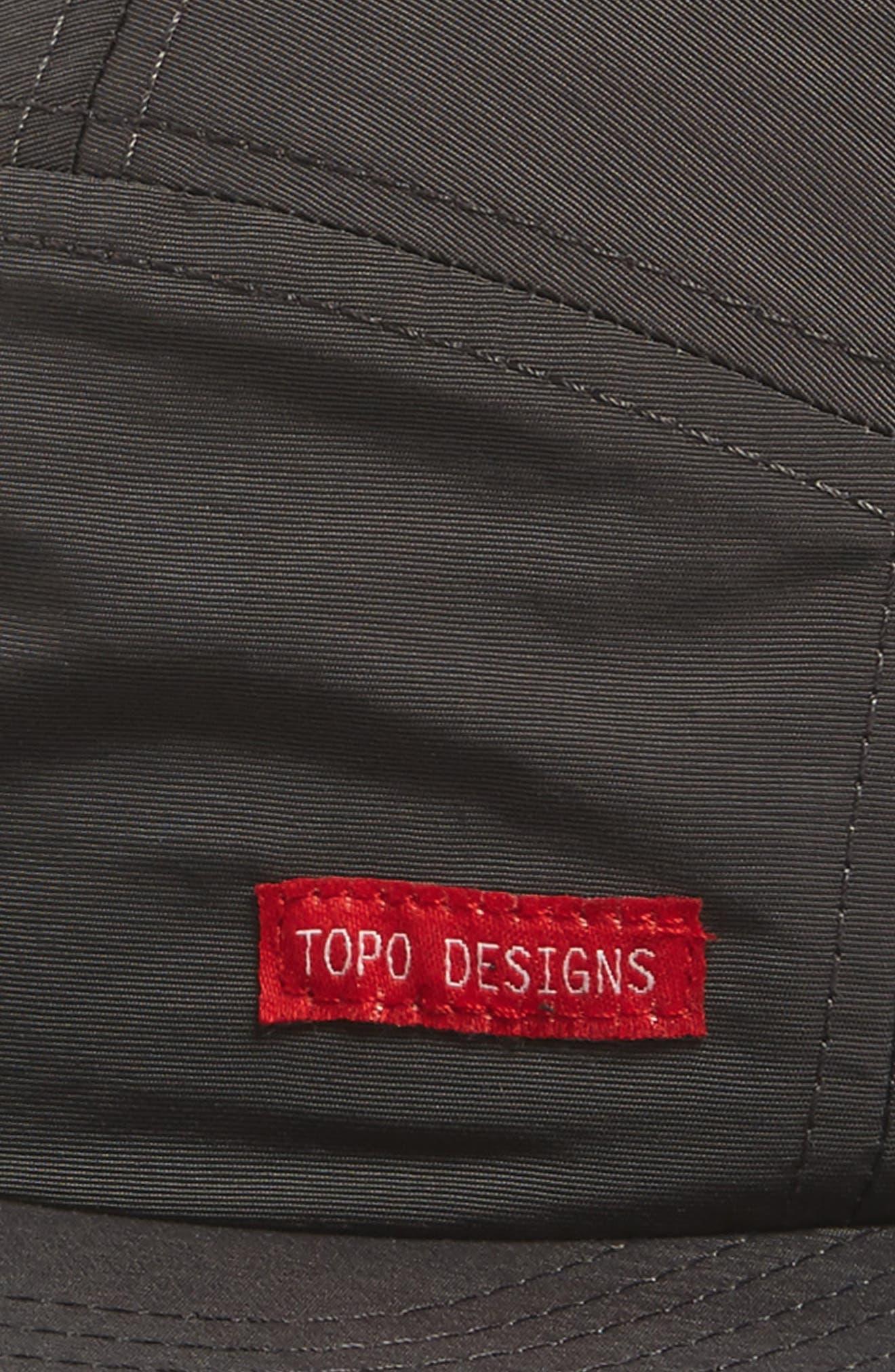 Nylon Camp Cap,                             Alternate thumbnail 3, color,                             Charcoal