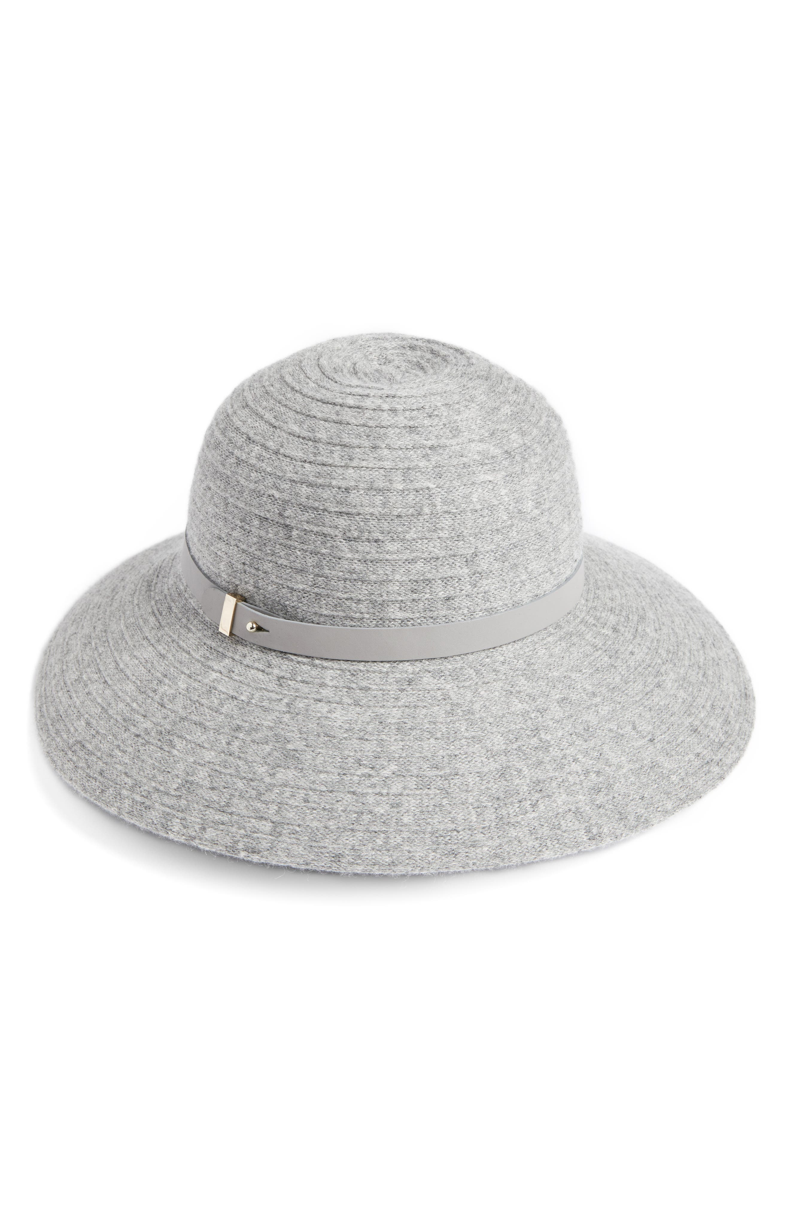 Packable Wool & Cashmere Hat,                             Main thumbnail 1, color,                             Iron/ Frost