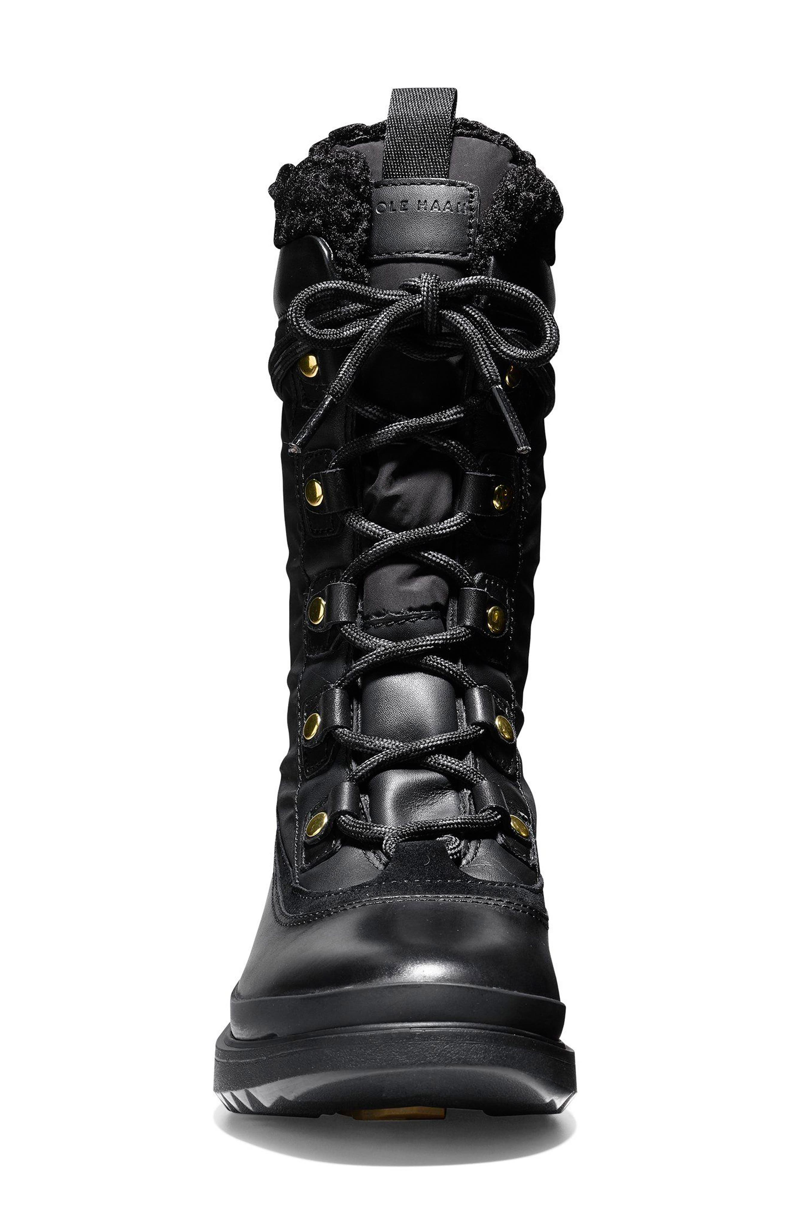 Millbridge Waterproof Boot,                             Alternate thumbnail 4, color,                             Black Leather