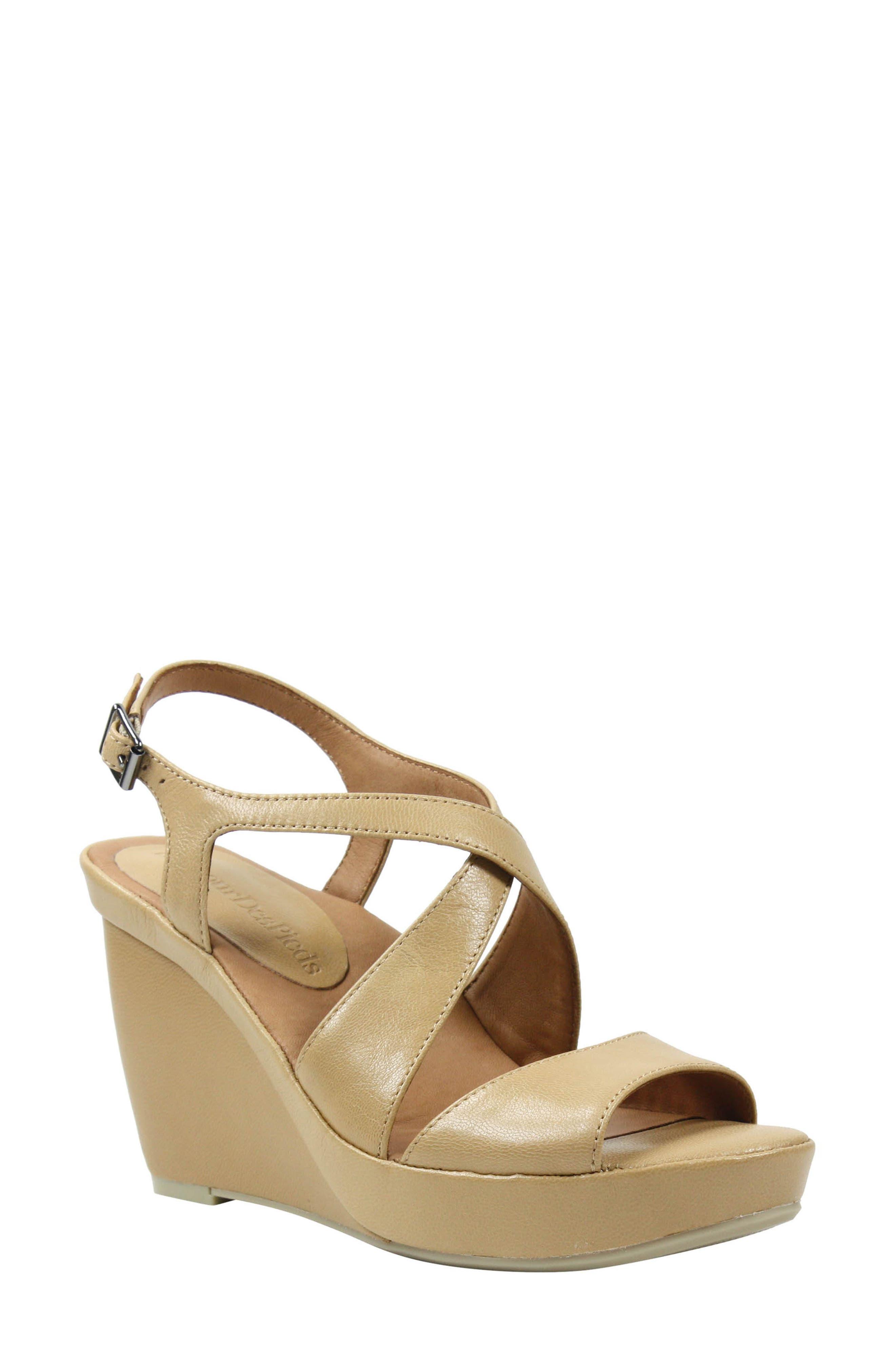 L'Amour Des Pieds Ilanna Leather Wedge Sandals UpG0N