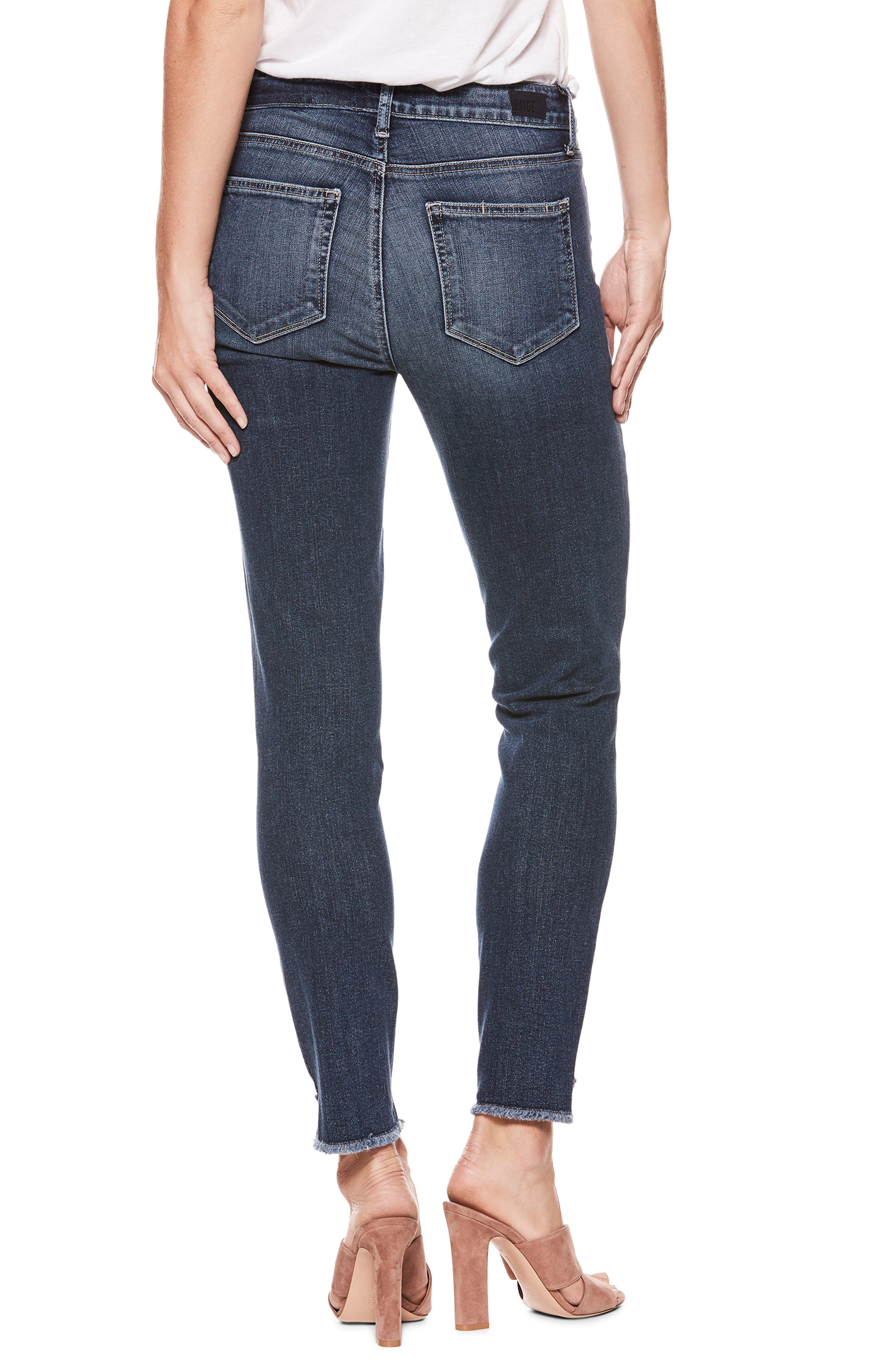 Hoxton High Waist Ankle Skinny Jeans,                             Alternate thumbnail 3, color,                             Blue