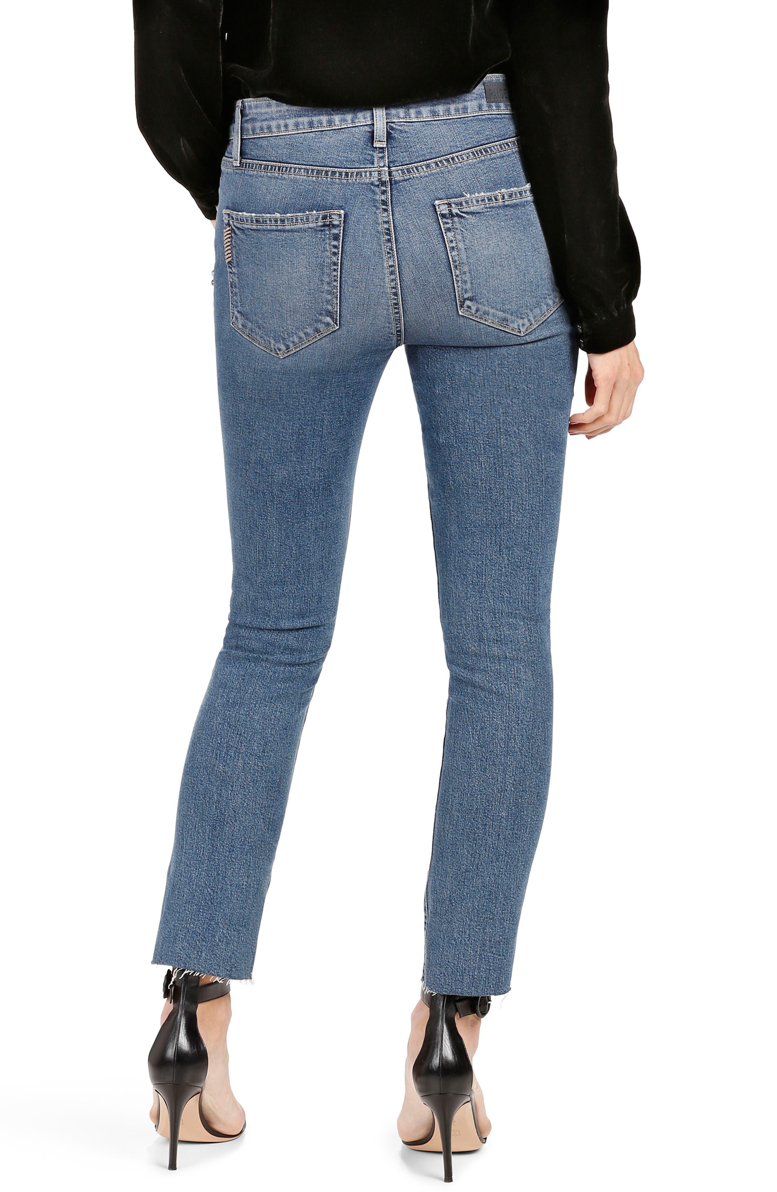 Alternate Image 2  - PAIGE Jacqueline High Waist Ankle Straight Leg Jeans (Naveen Embellished)