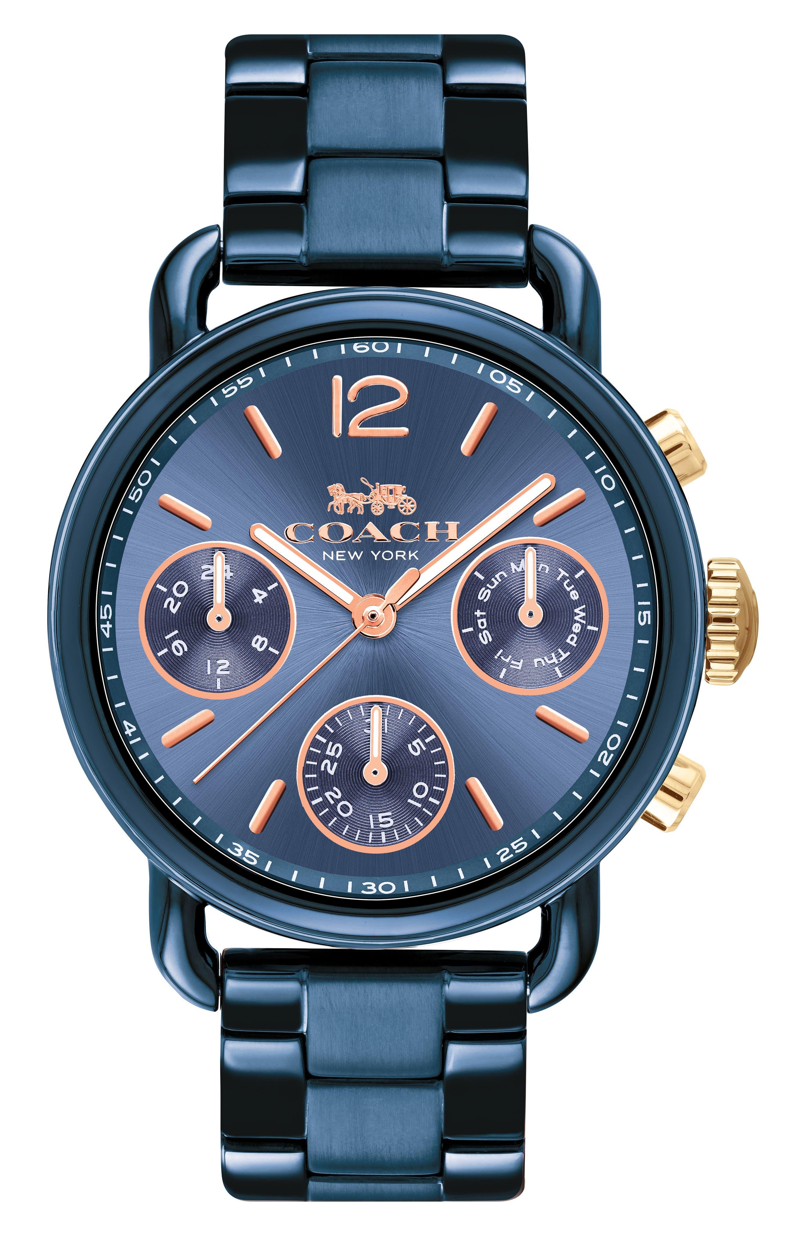 Delancey Sport Chronograph Bracelet Watch, 36mm,                             Main thumbnail 1, color,                             Blue