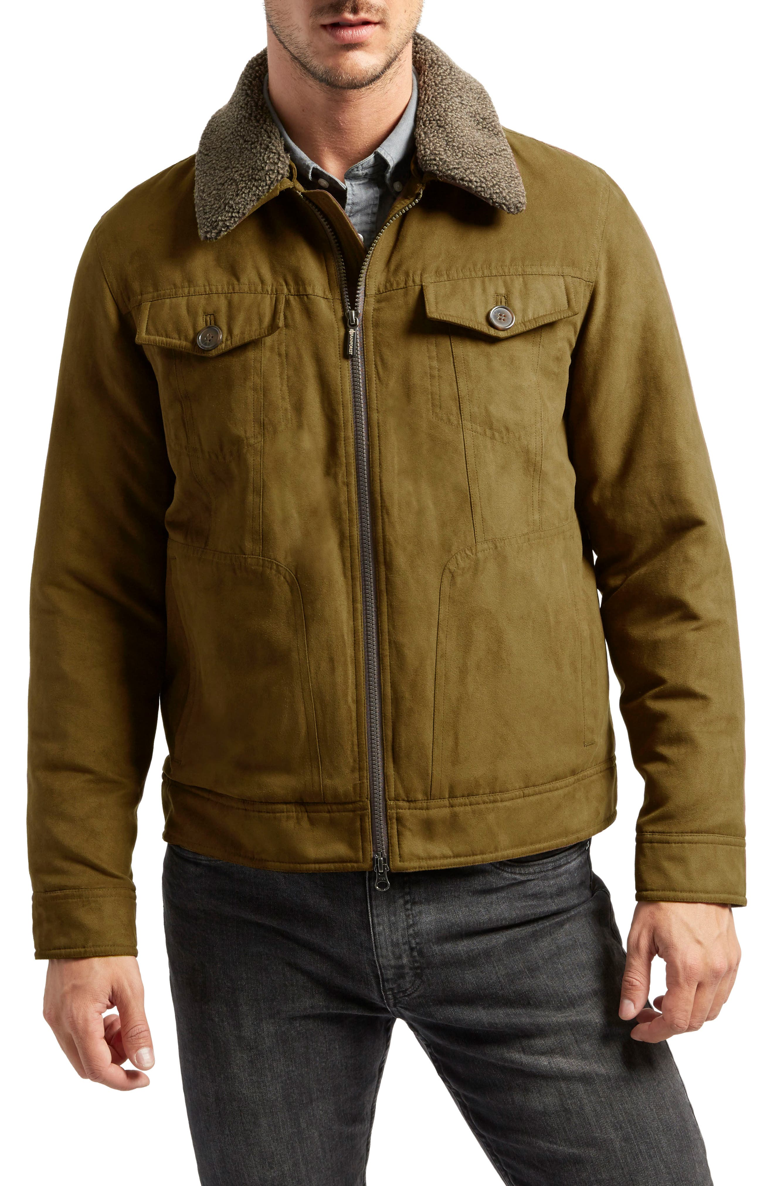 Gilpin Water-Resistant Trucker Jacket,                         Main,                         color, Wheat