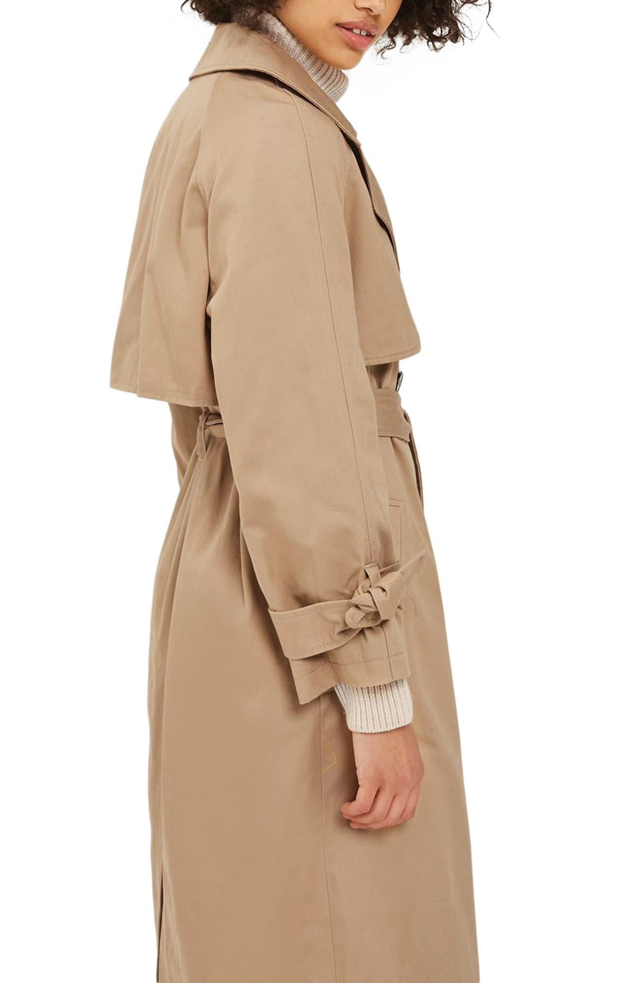 Editor's Double Breasted Trench Coat,                             Alternate thumbnail 3, color,                             Stone