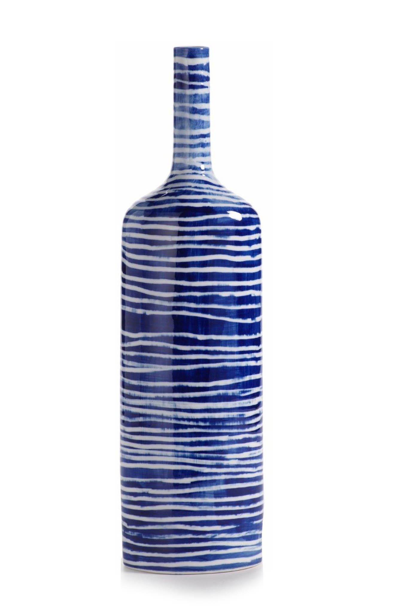 Yahto Decorative Ceramic Bottle,                             Main thumbnail 1, color,                             Blue