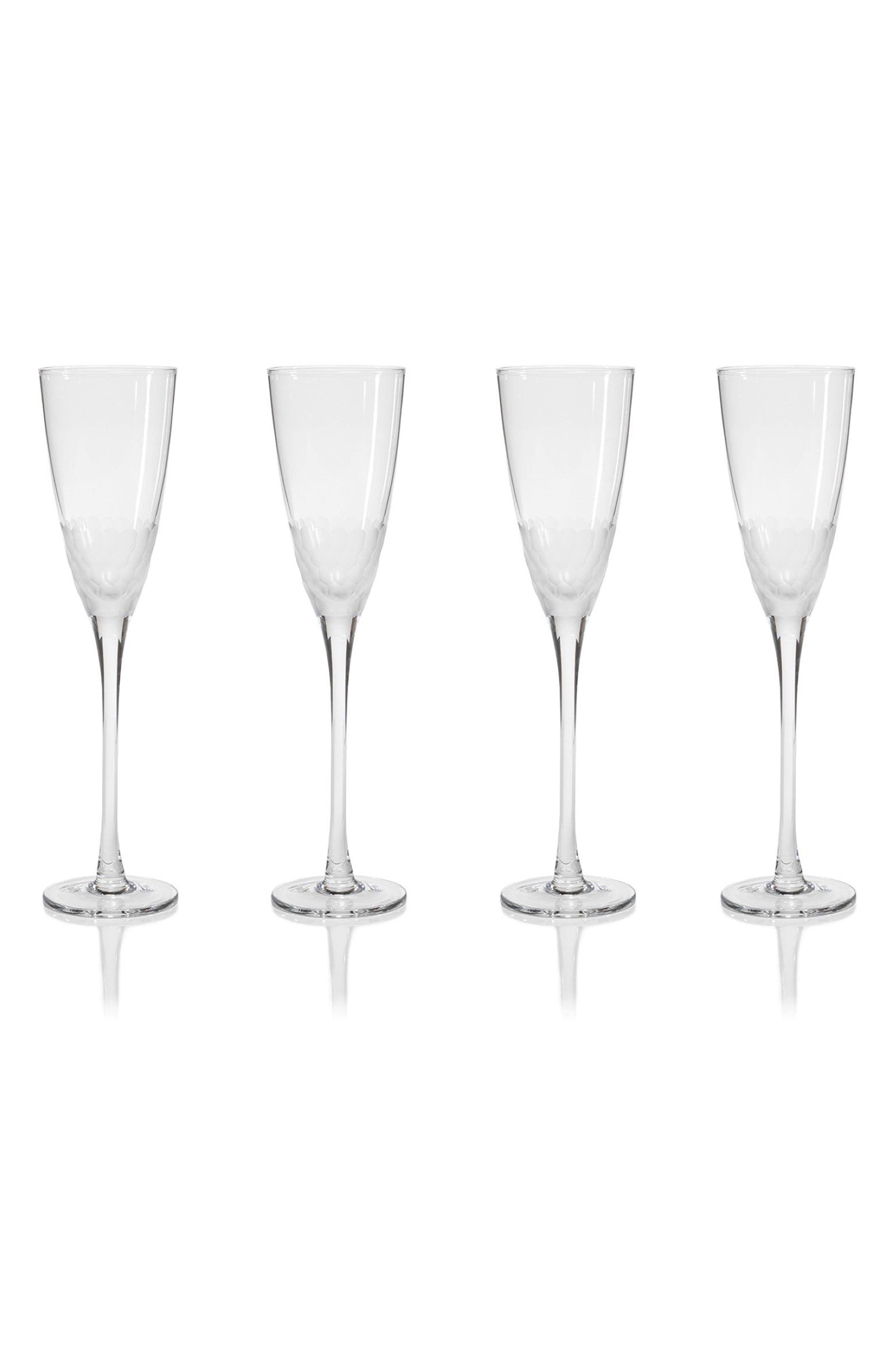Vitorrio Set of 4 Champagne Flutes,                         Main,                         color, Clear