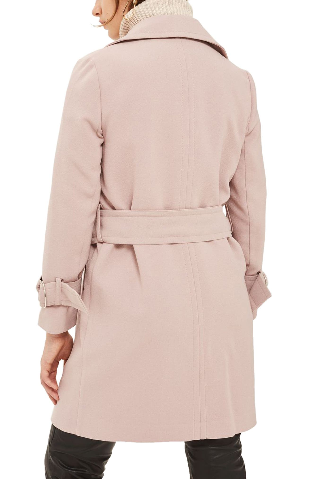 Alternate Image 2  - Topshop Daisy Crepe Truster Trench Coat