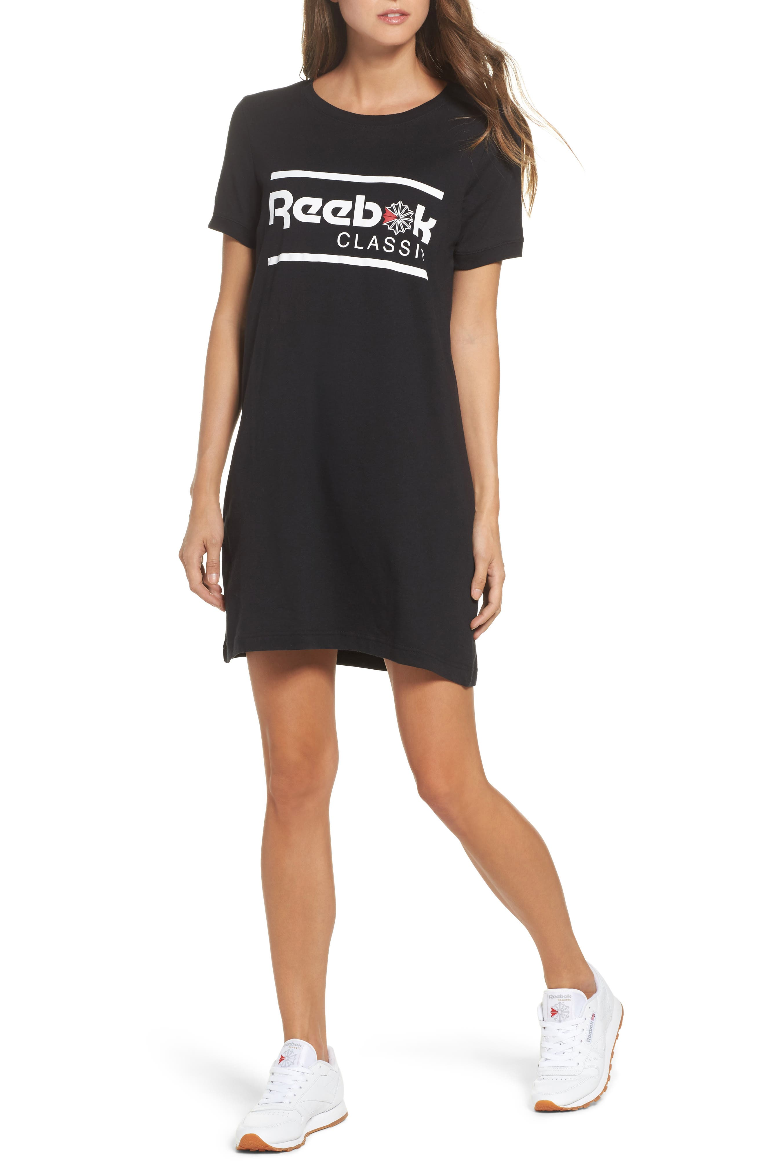 Classics T-Shirt Dress,                             Main thumbnail 1, color,                             Black