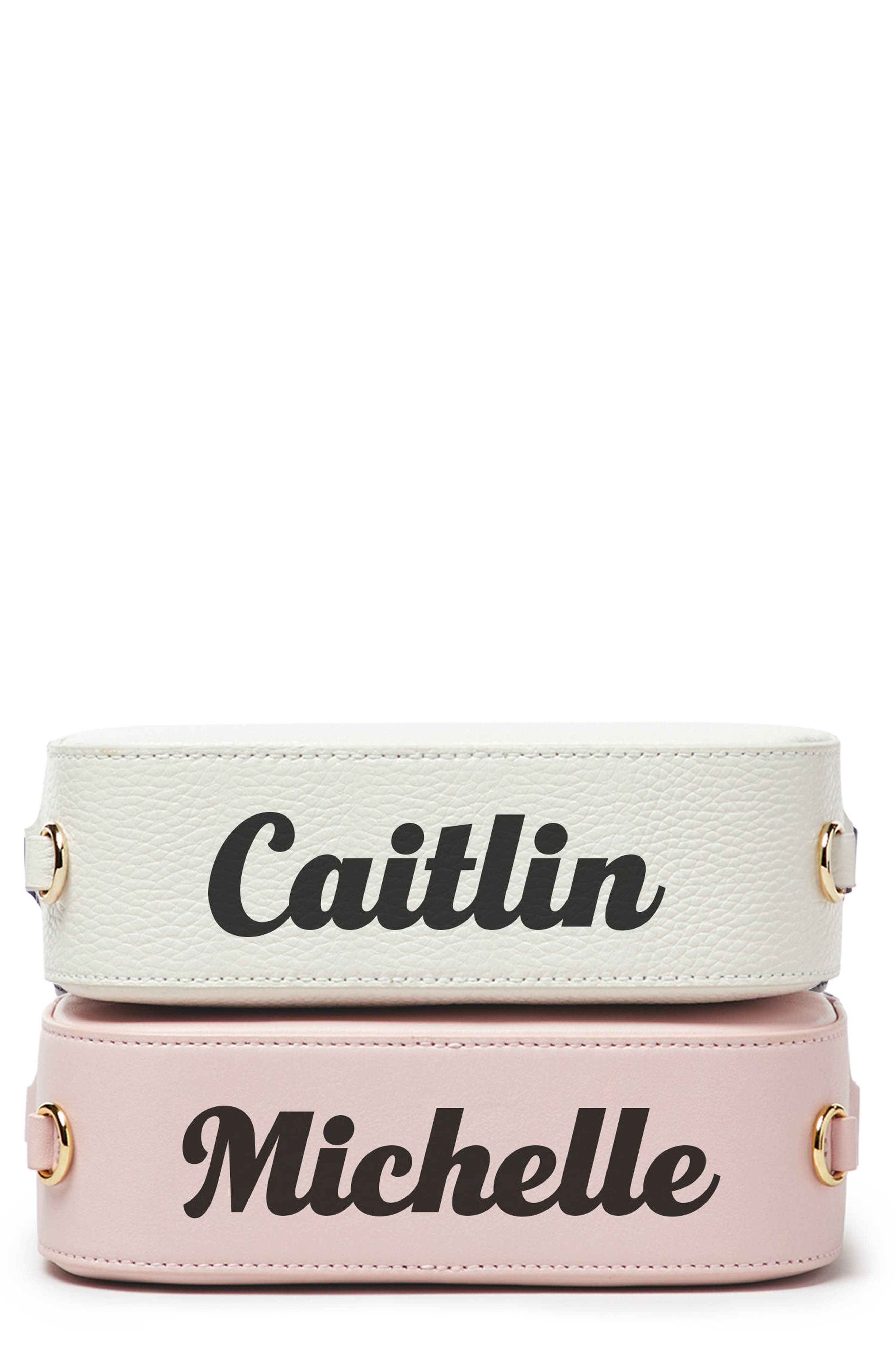 Alternate Image 1 Selected - Pop & Suki Personalized Leather Camera Bag (Nordstrom Exclusive)