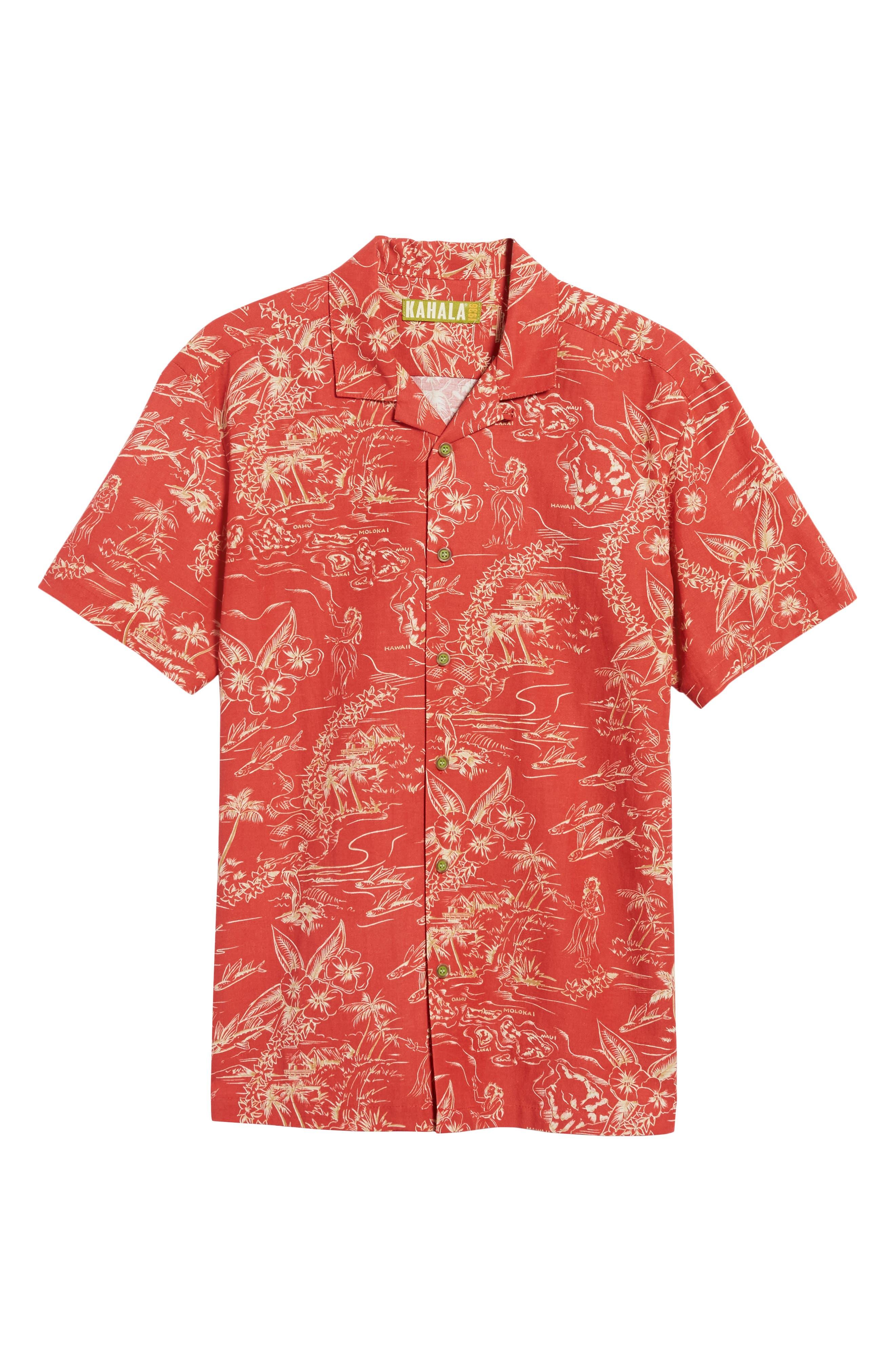 Alternate Image 6  - Kahala Konohiki Trim Fit Print Sport Shirt