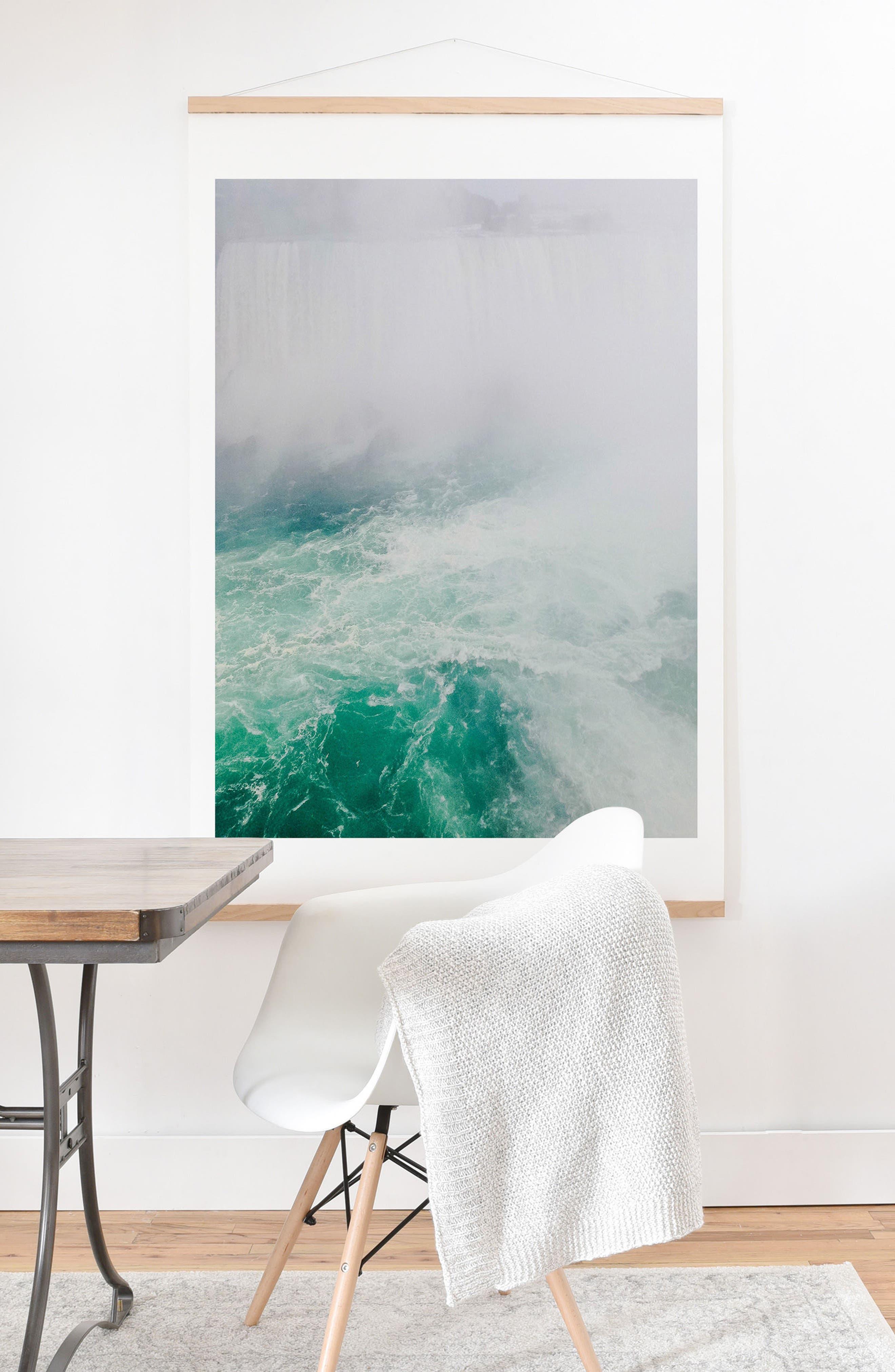 Alternate Image 2  - Deny Designs The Falls Print & Oak Hanger