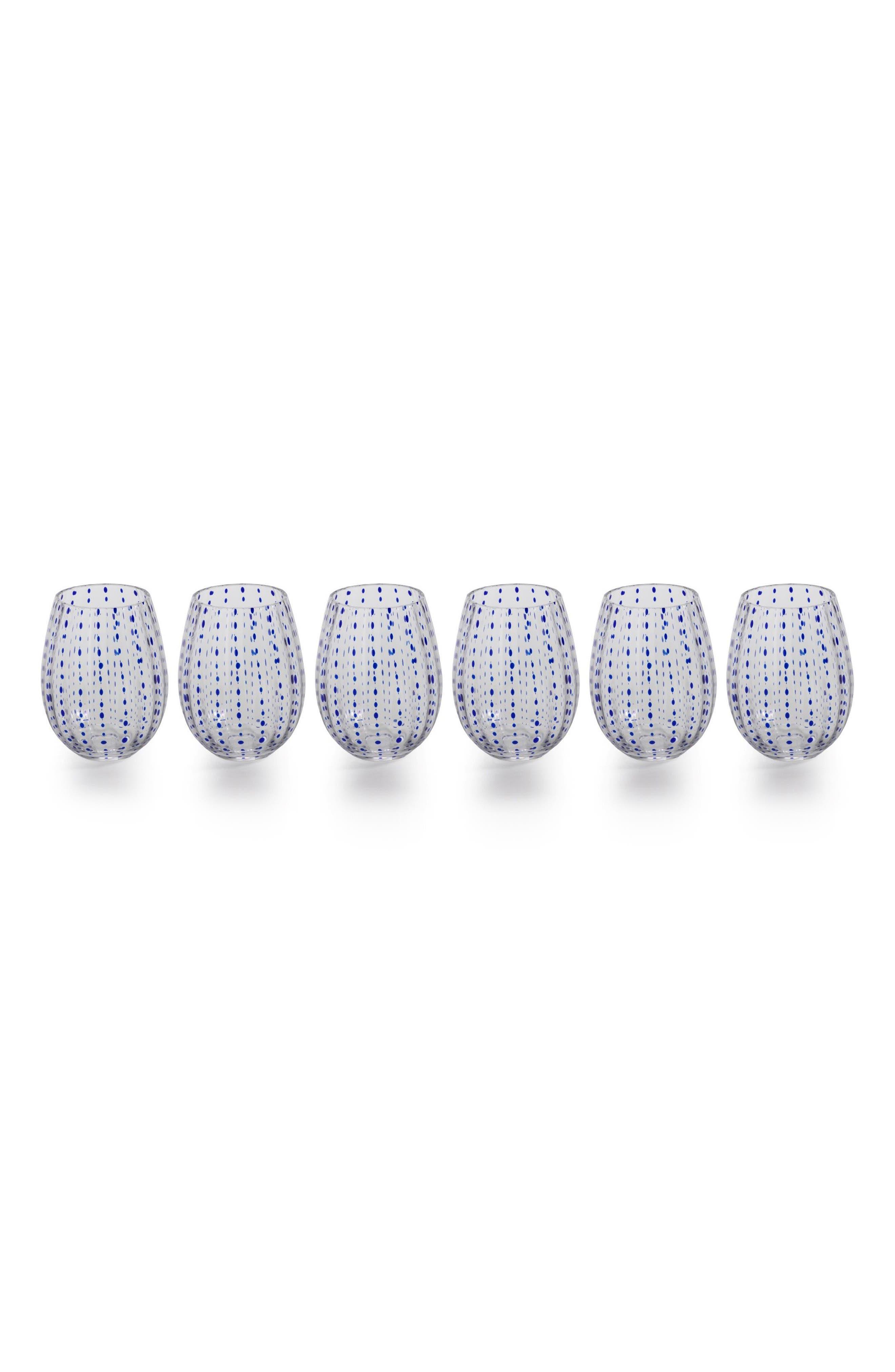 Alternate Image 1 Selected - Zodax Mavi Set of 6 Stemless Wine Glasses