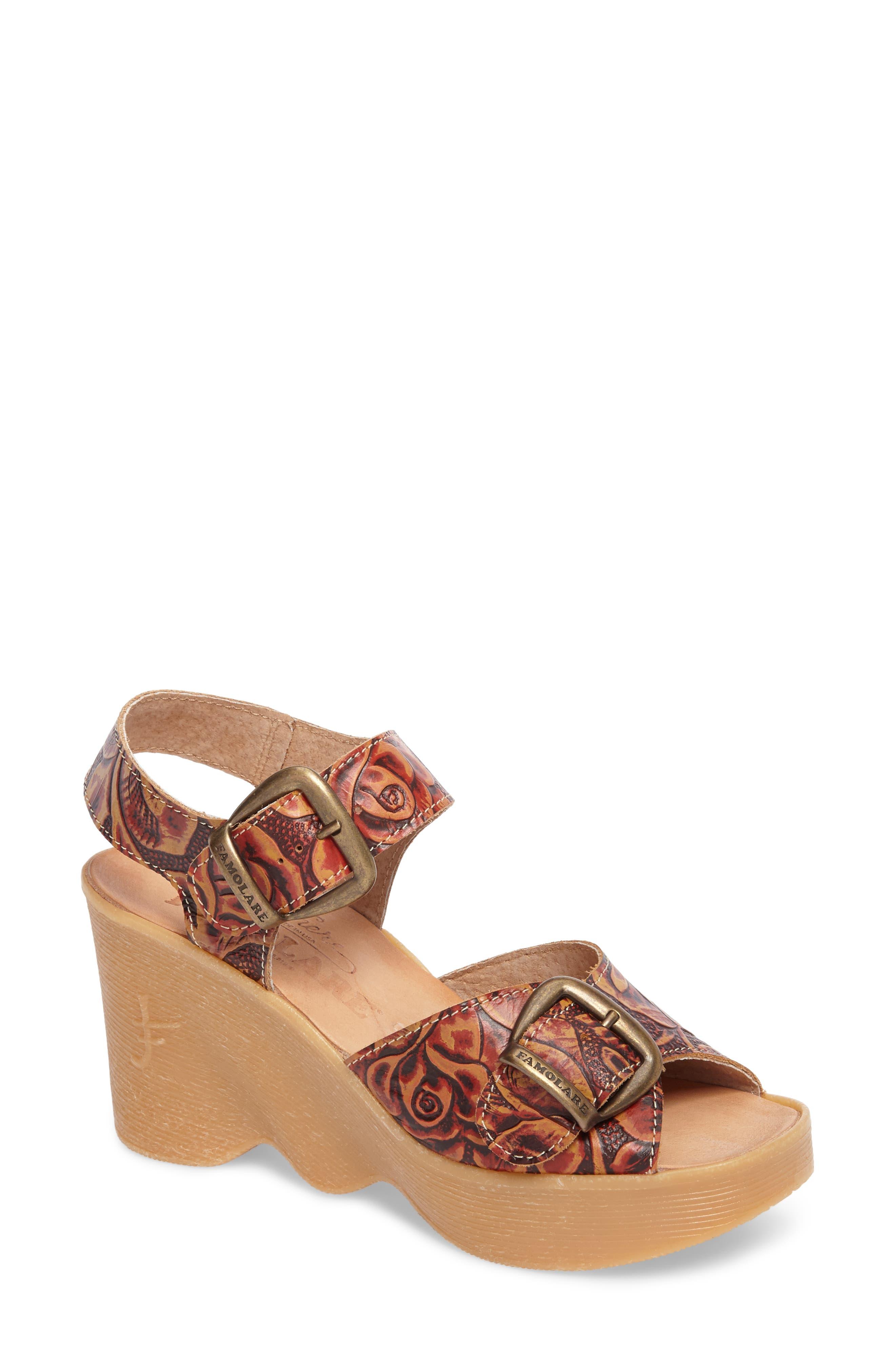 Alternate Image 1 Selected - Famolare Double Vision Wedge Sandal (Women)