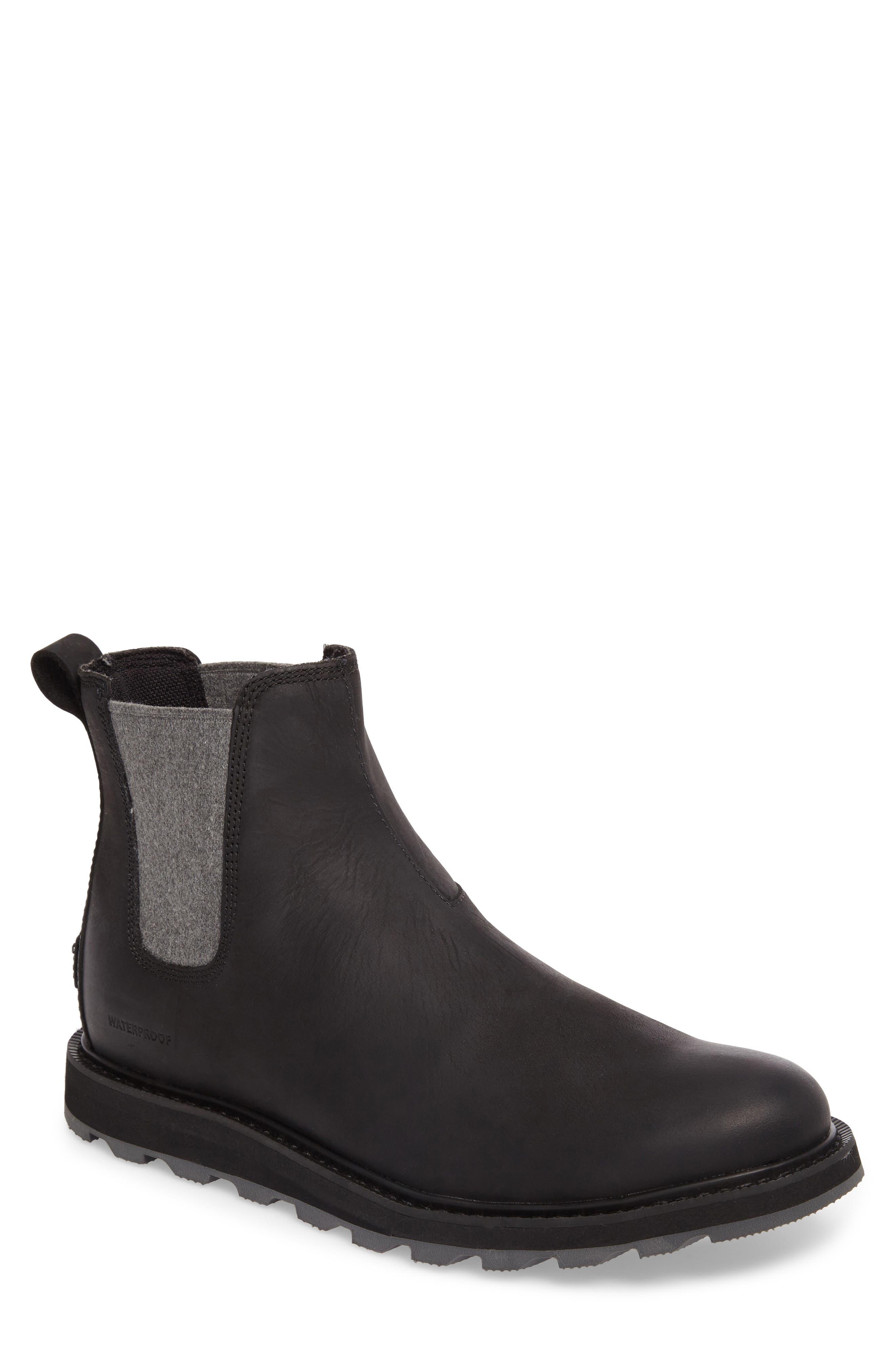 Madson Waterproof Chelsea Boot,                             Main thumbnail 1, color,                             Black