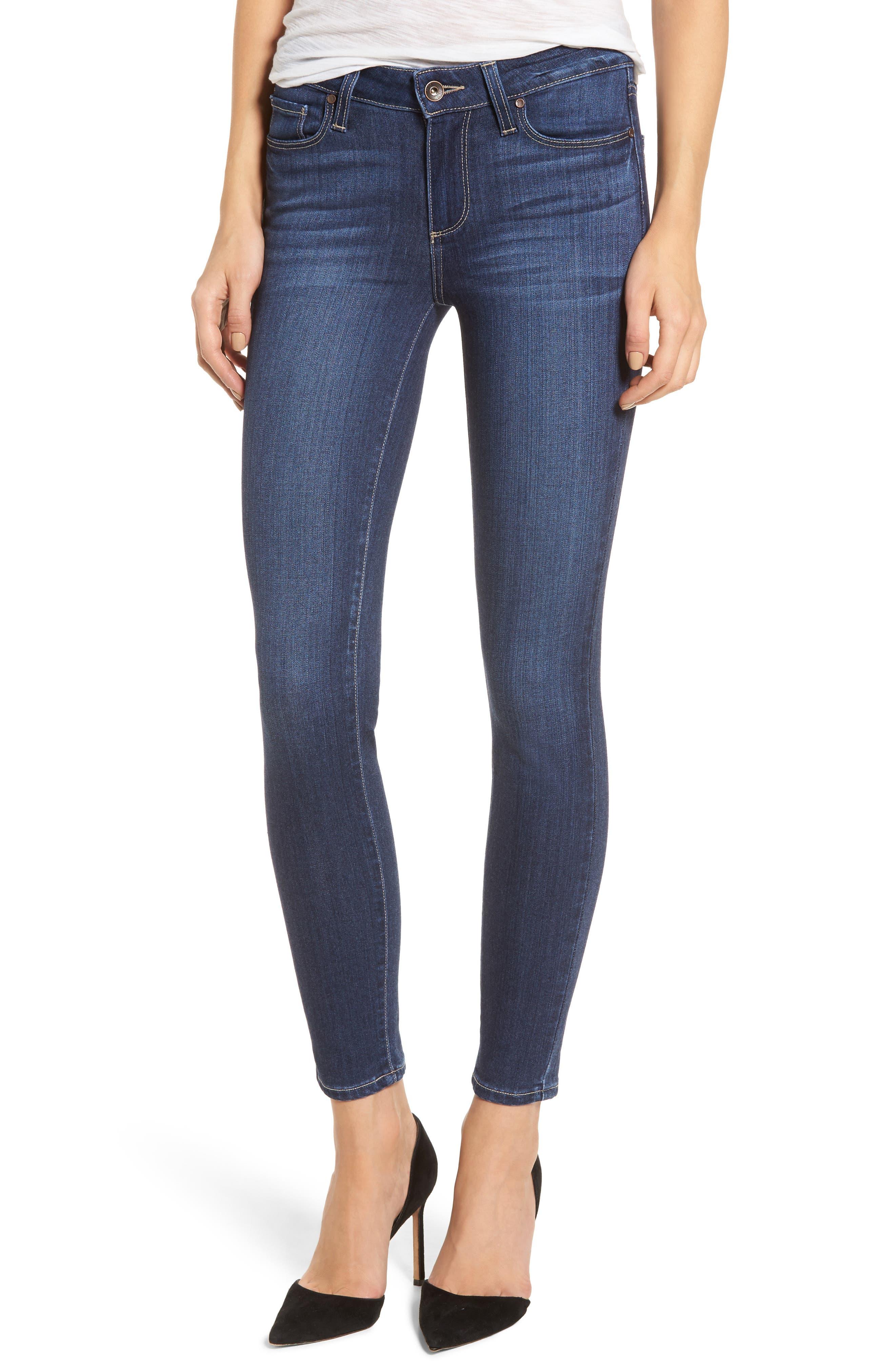 Transcend - Verdugo Ankle Skinny Jeans,                         Main,                         color, Blue