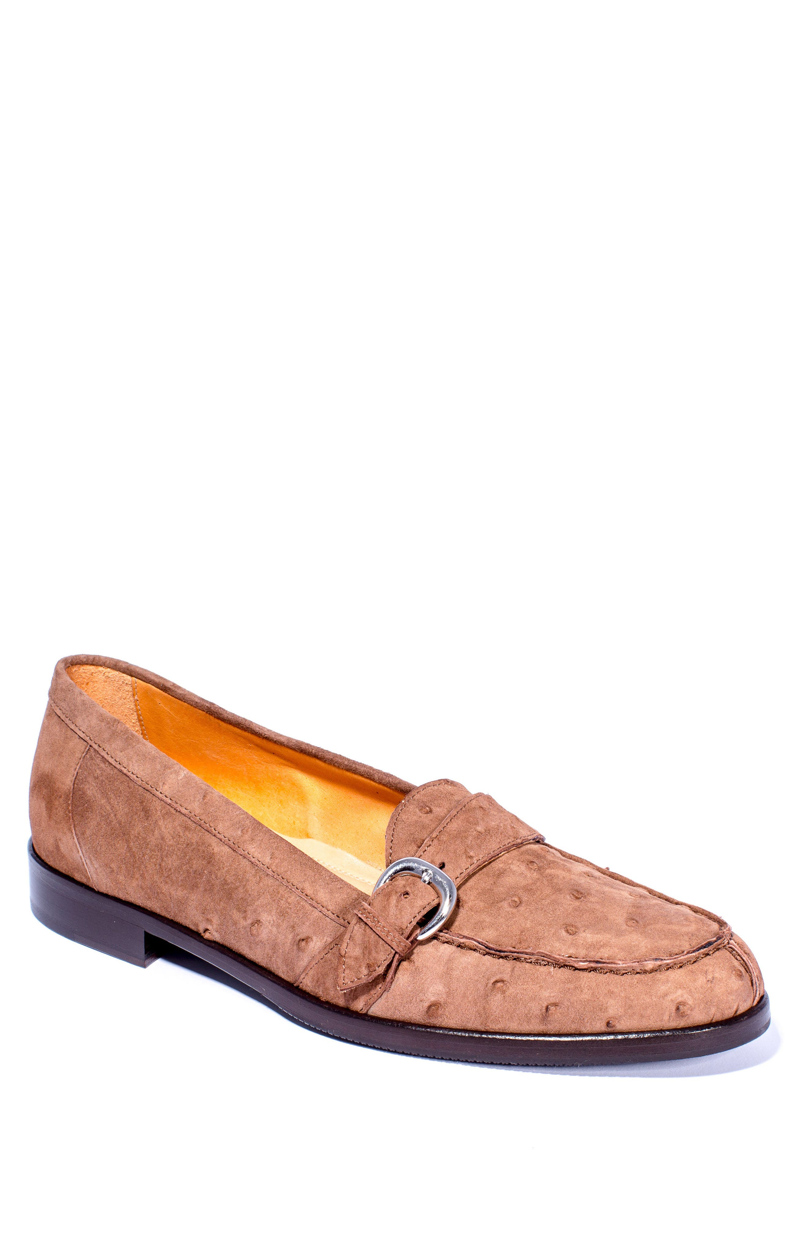 Orlando Teju Ostrich Loafer,                             Main thumbnail 1, color,                             Brown