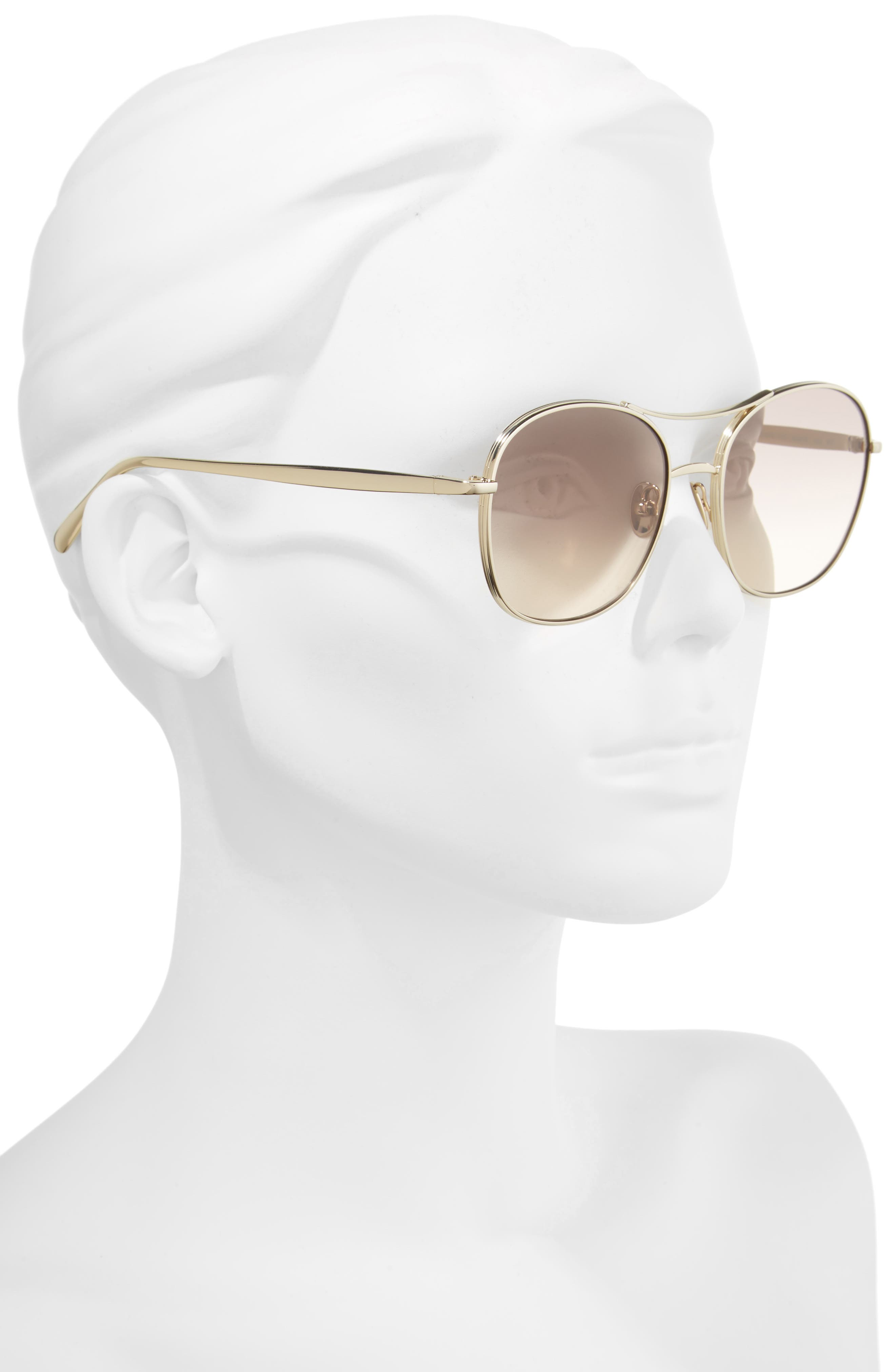 Alternate Image 3  - Chloé 54mm Aviator Sunglasses