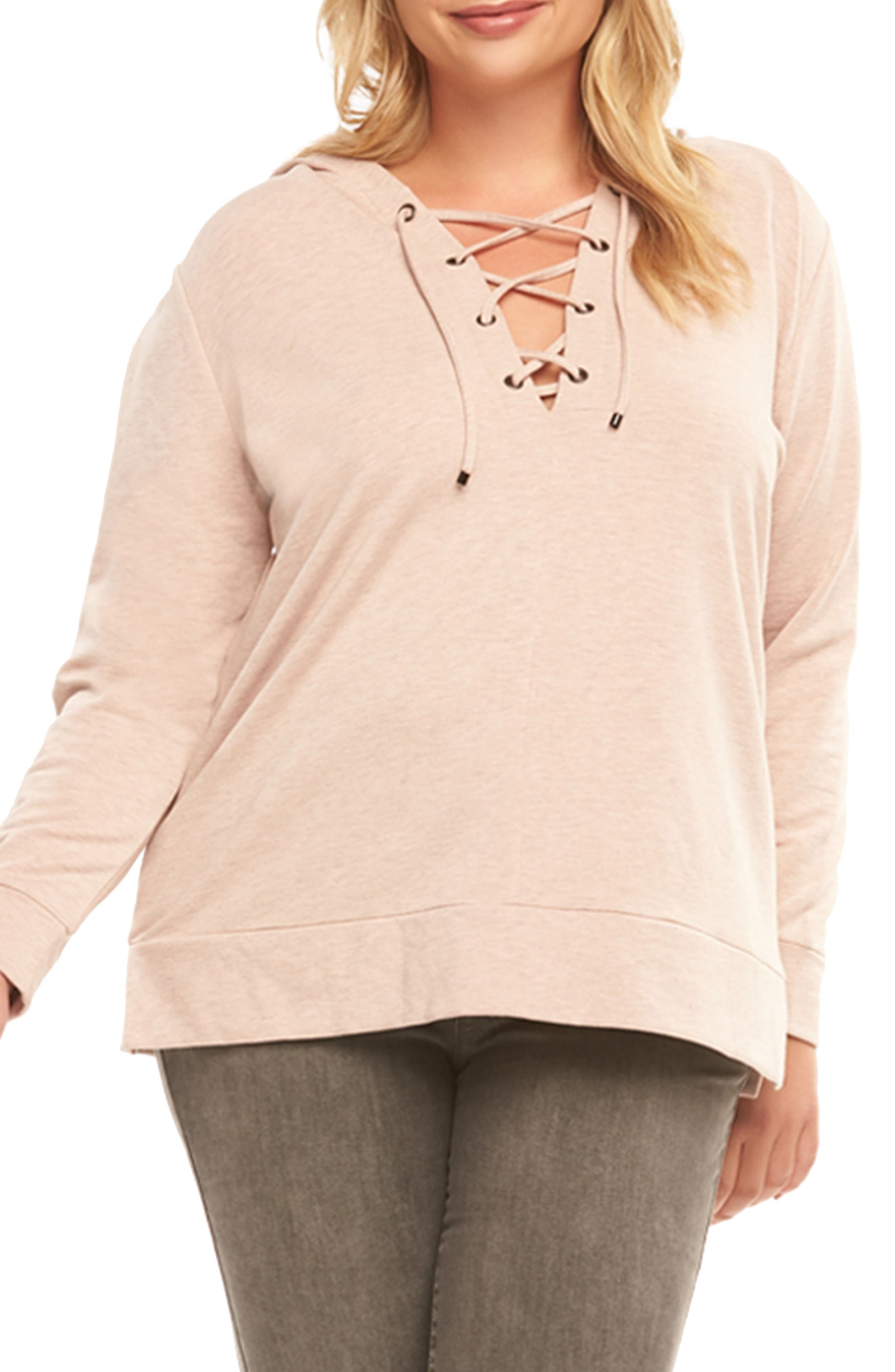 Tart McKenney Lace-Up Hoodie (Plus Size)