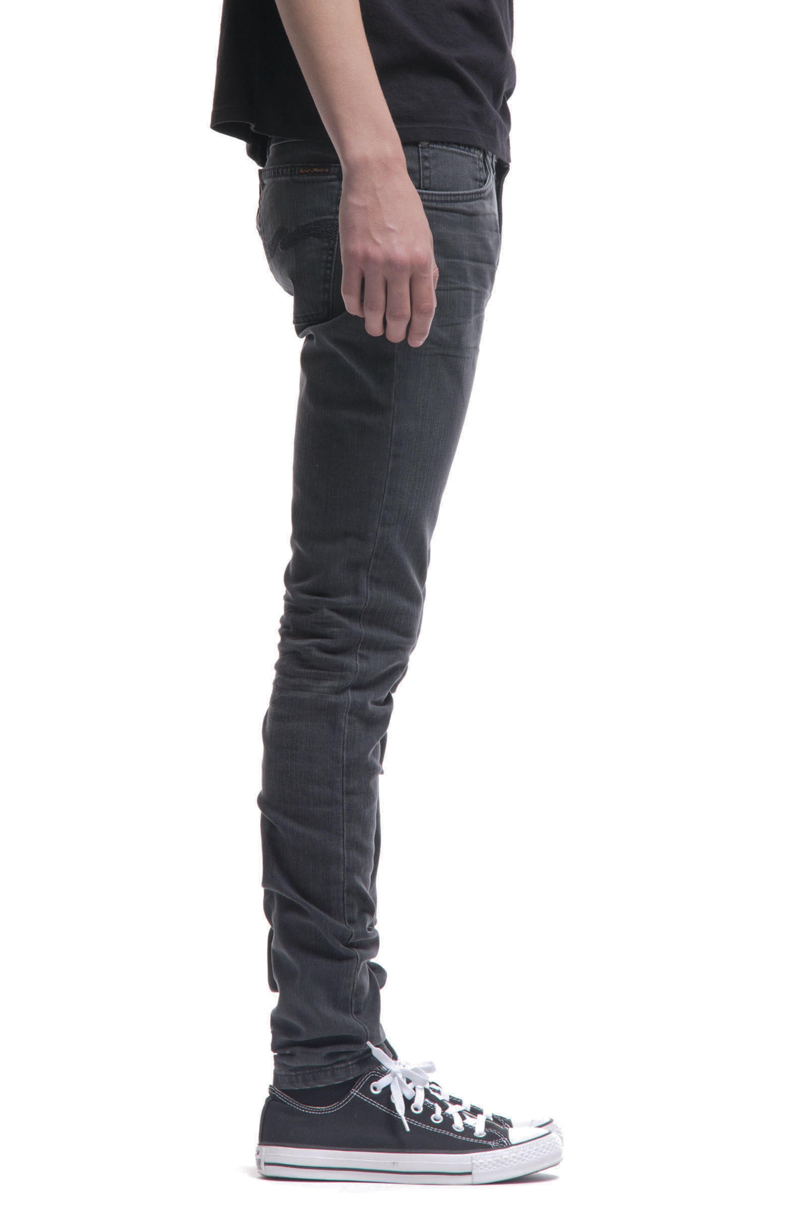 Skinny Lin Skinny Fit Jeans,                             Alternate thumbnail 3, color,                             Black Seas
