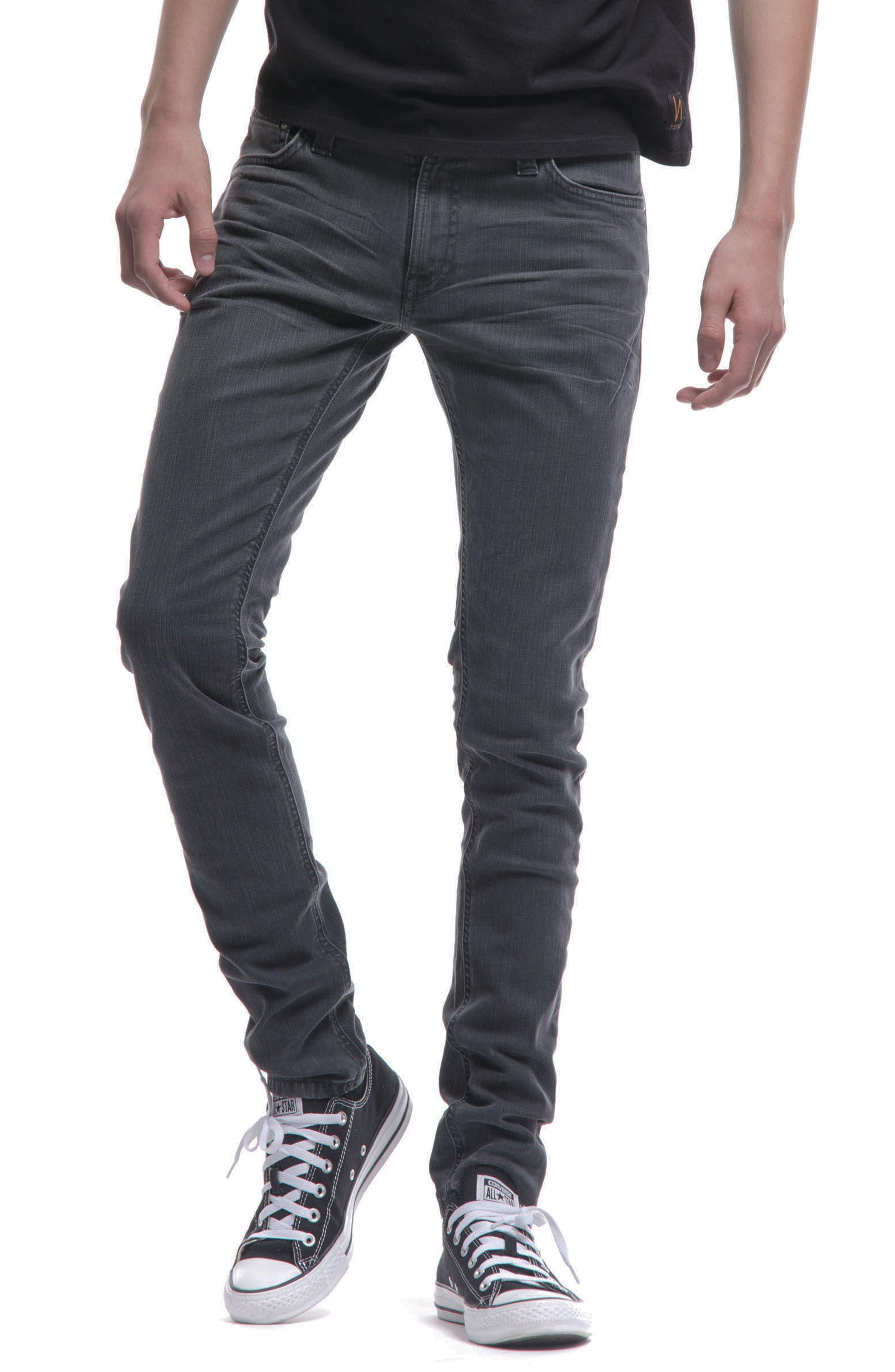 Skinny Lin Skinny Fit Jeans,                             Alternate thumbnail 4, color,                             Black Seas