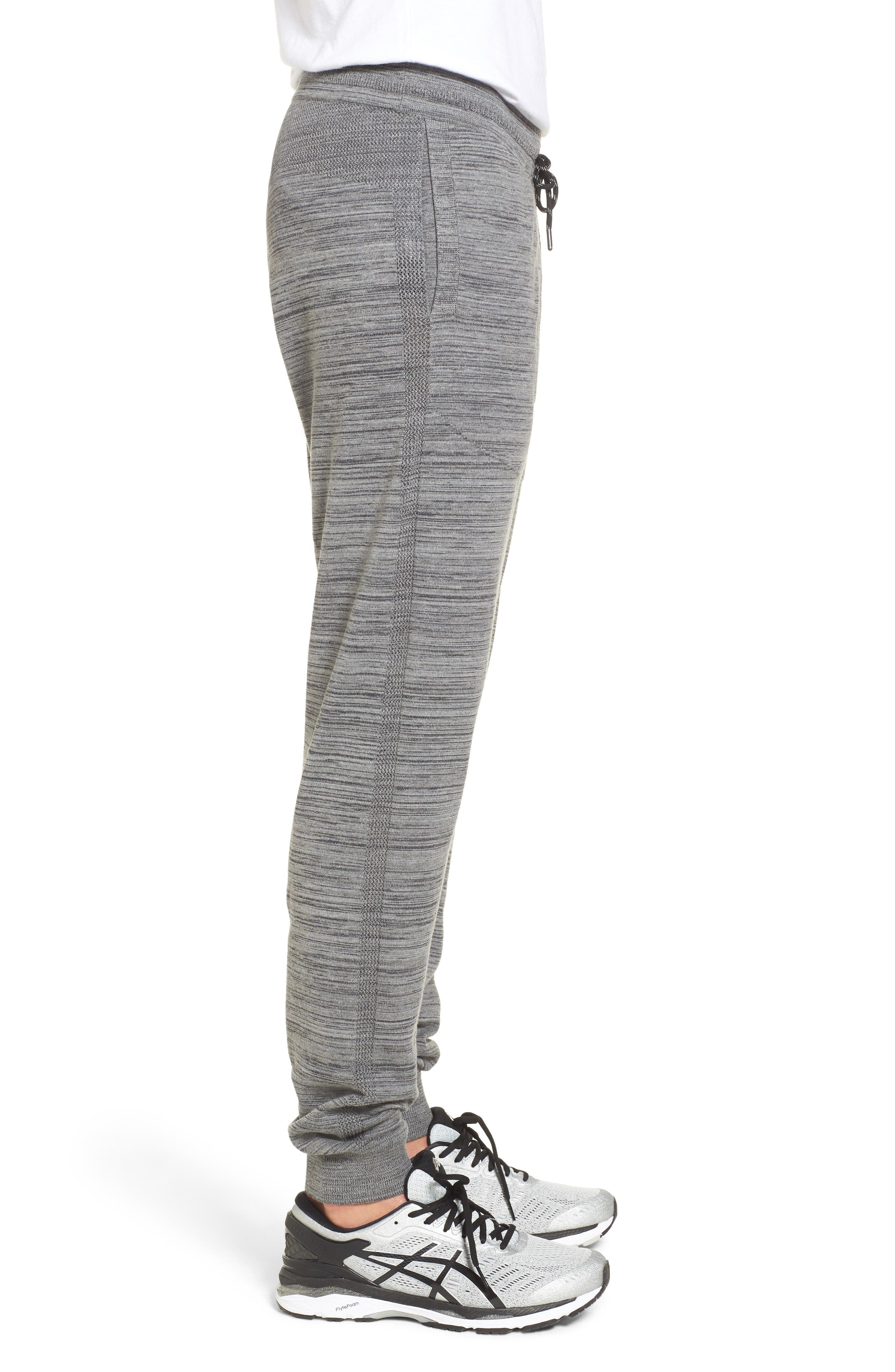 Tech Sweater Knit Jogger Pants,                             Alternate thumbnail 3, color,                             Grey Obsidian Spacedye