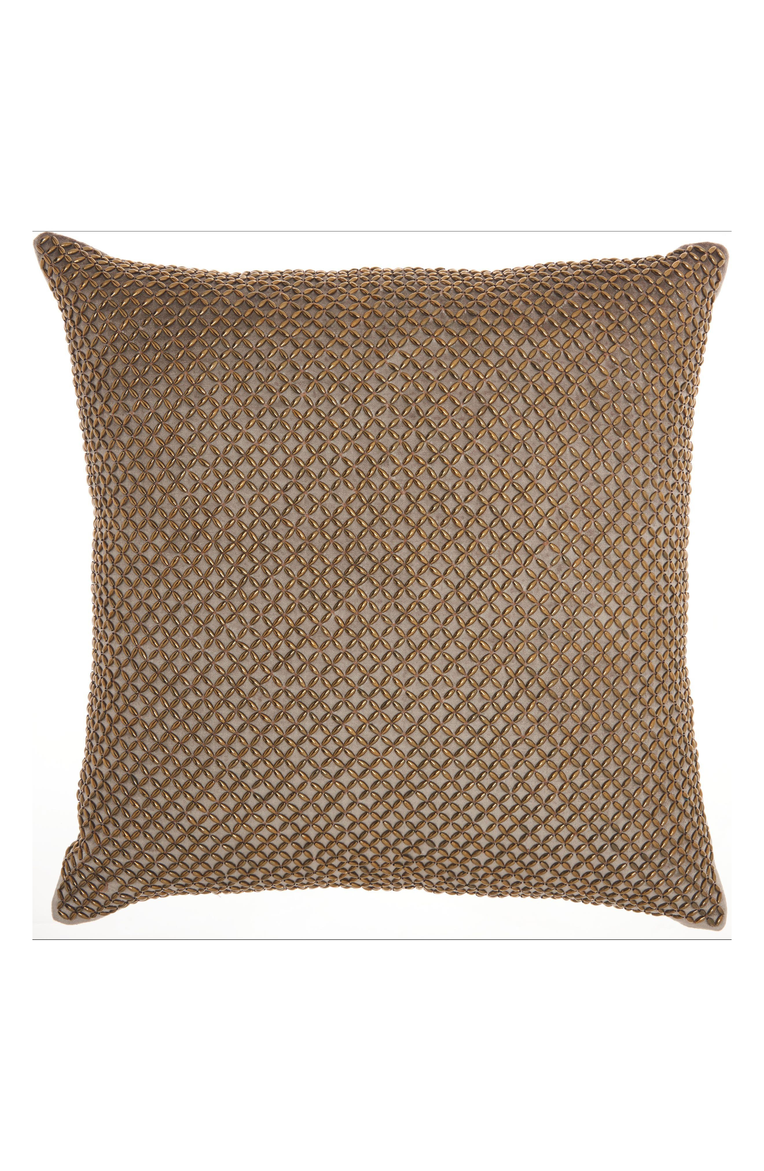 Cobble Jewel Accent Pillow,                             Main thumbnail 1, color,                             Taupe