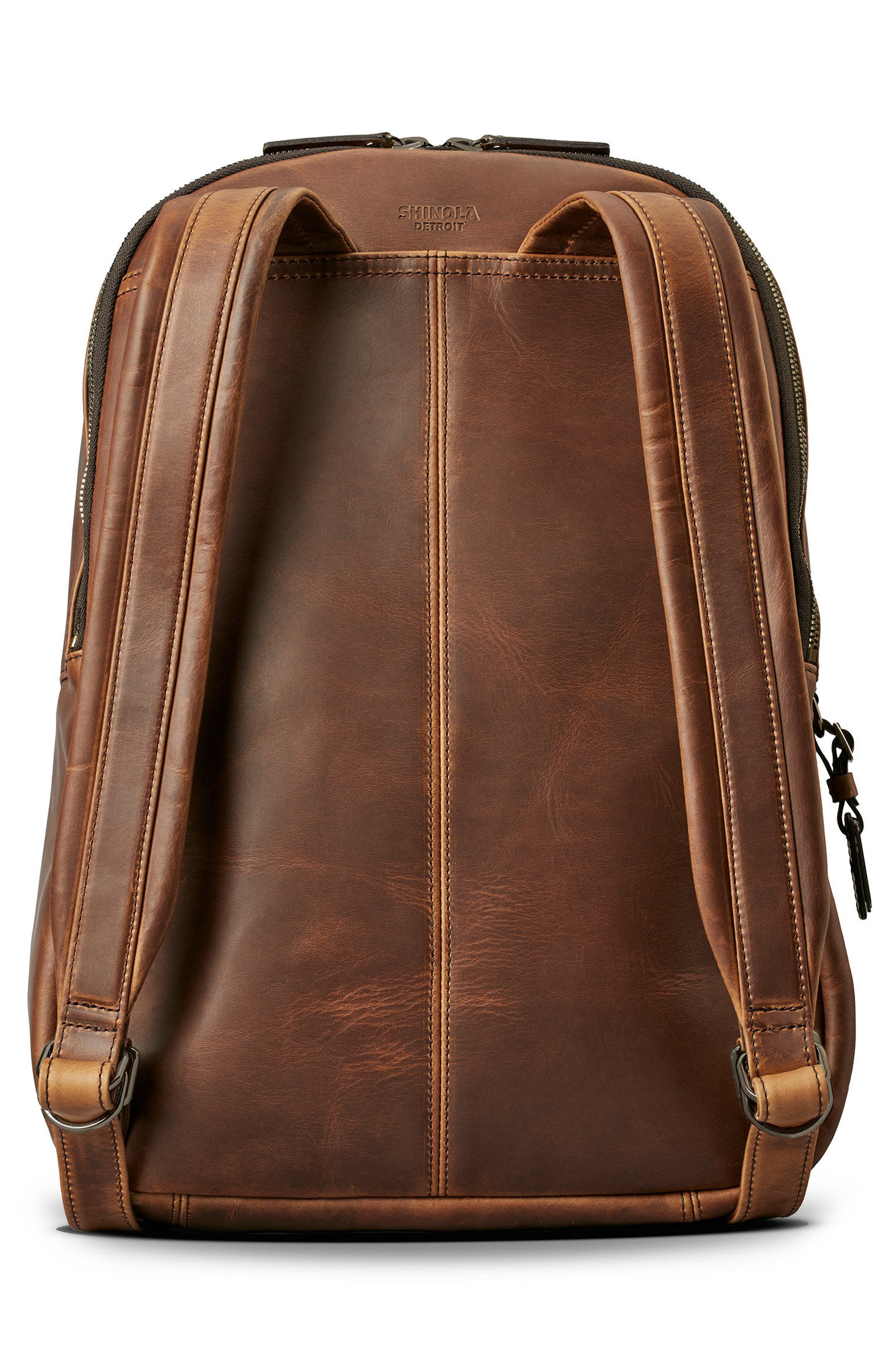 Runwell Leather Backpack,                             Alternate thumbnail 2, color,                             Medium Brown
